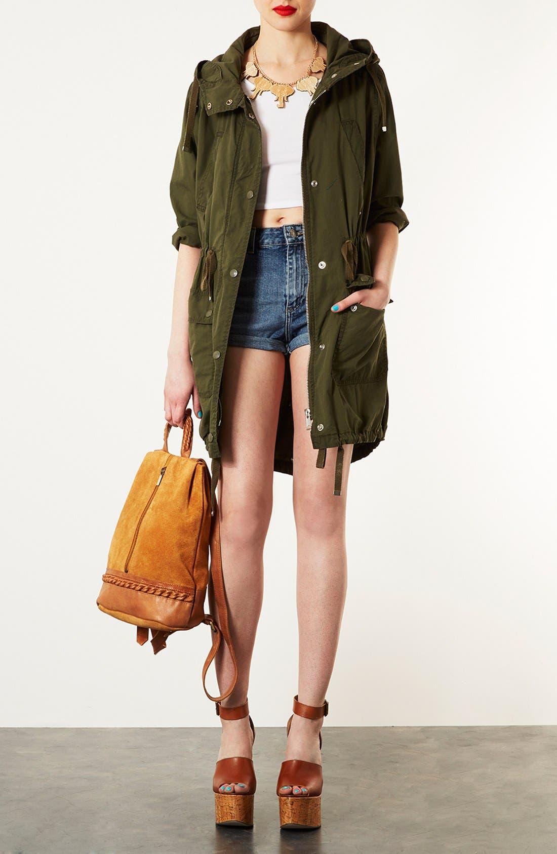 Alternate Image 2  - Topshop Suede Zip Backpack