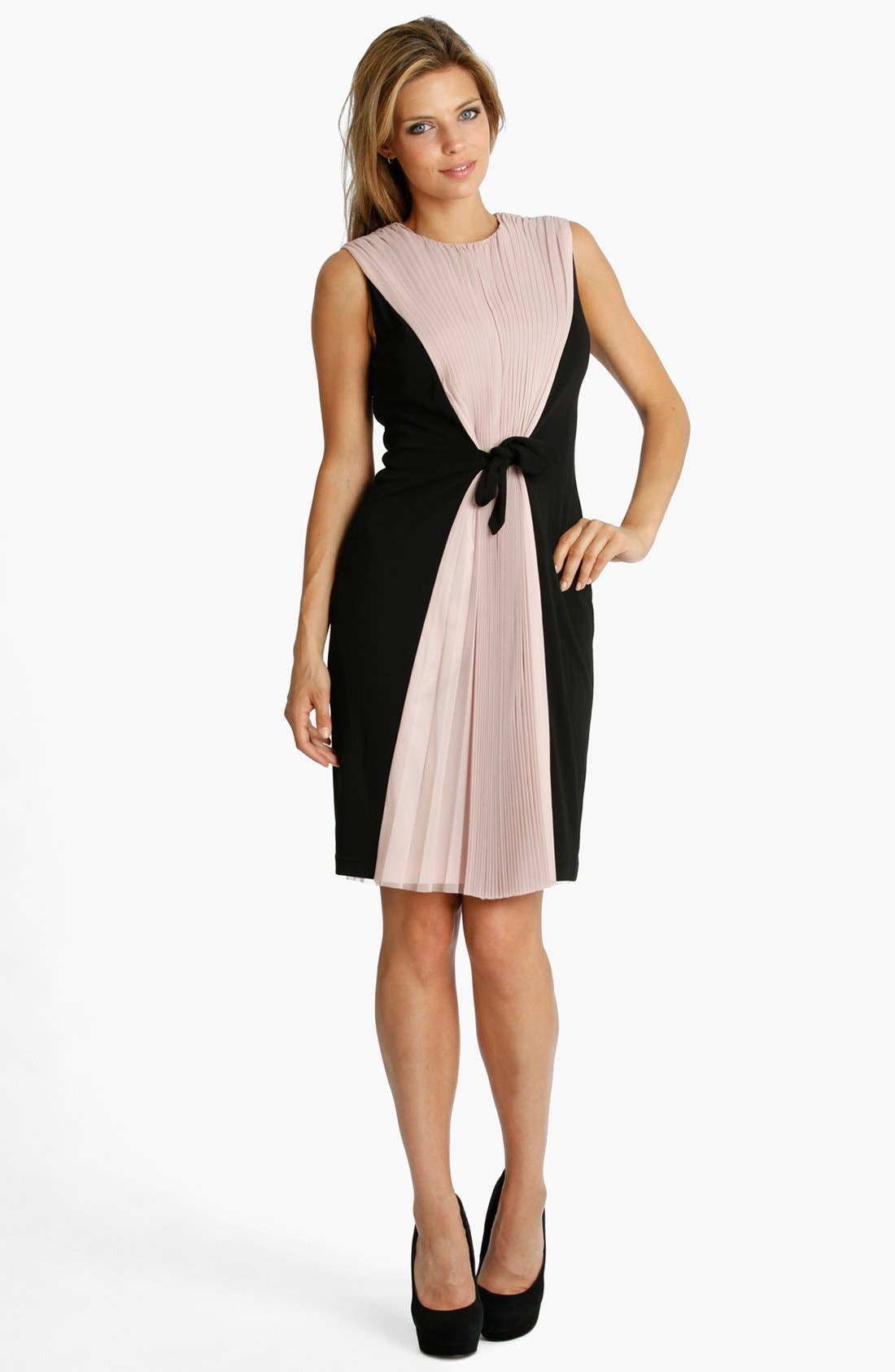 Alternate Image 1 Selected - JS Collections Mesh & Jersey Cocktail Dress