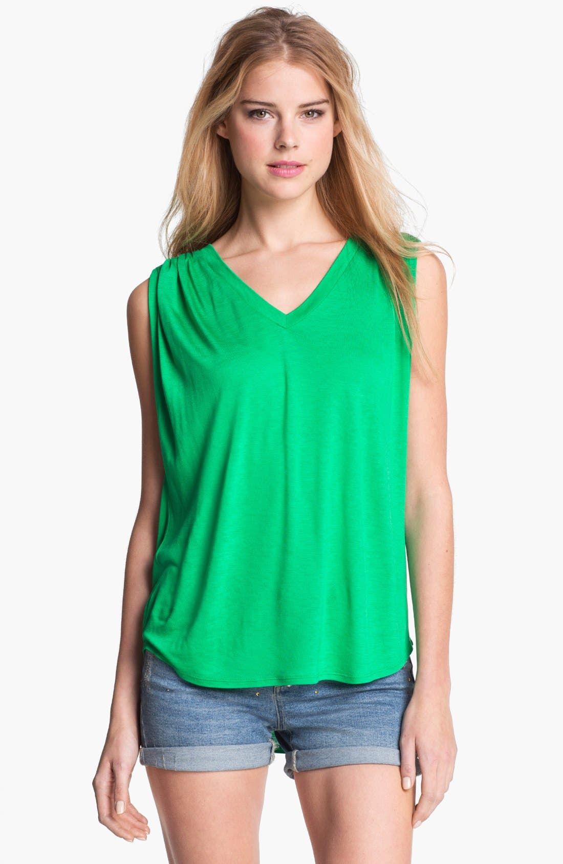 Main Image - Two by Vince Camuto Shirred Shoulder Top