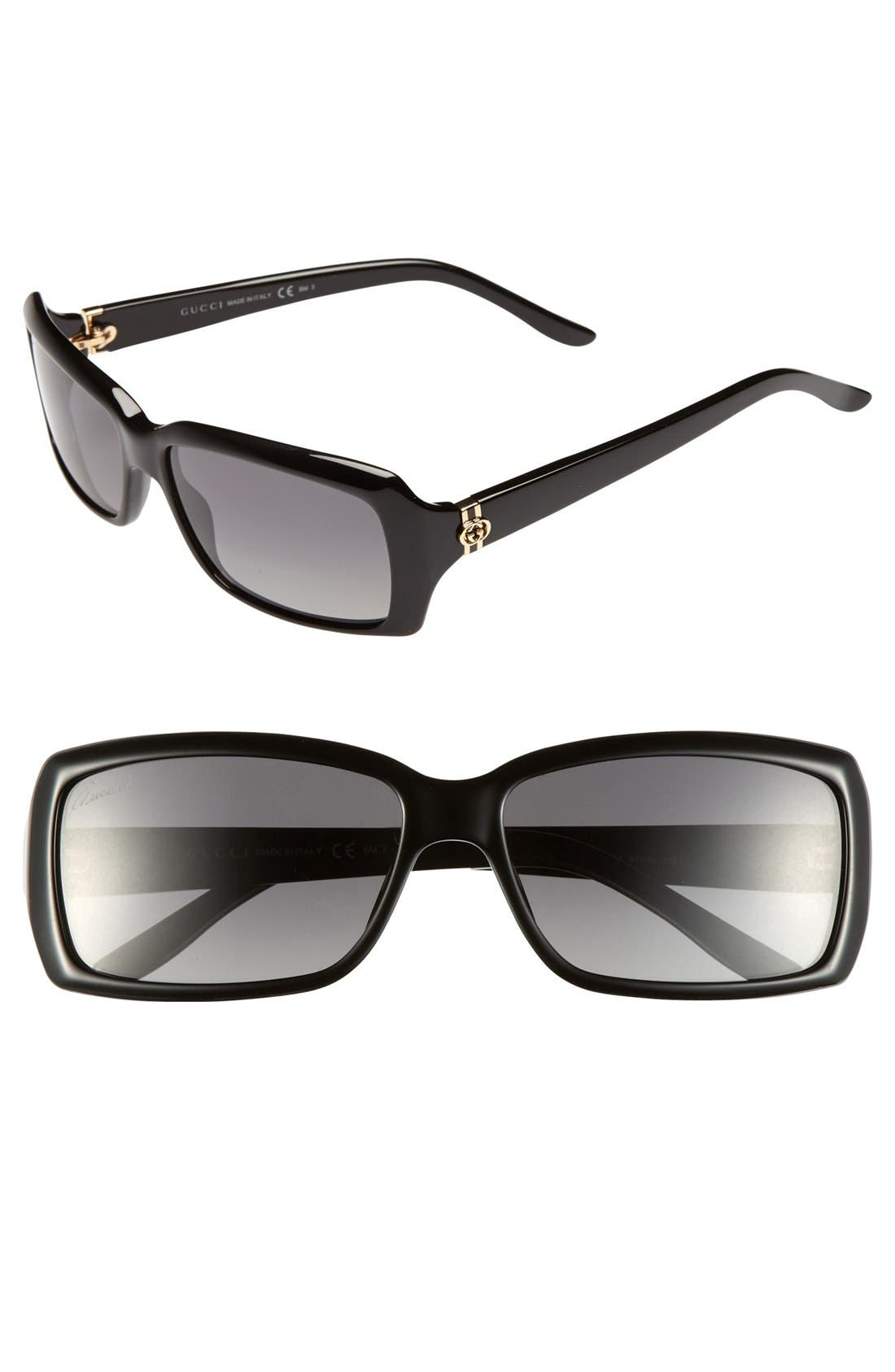 Alternate Image 1 Selected - Gucci 57mm Polarized Sunglasses