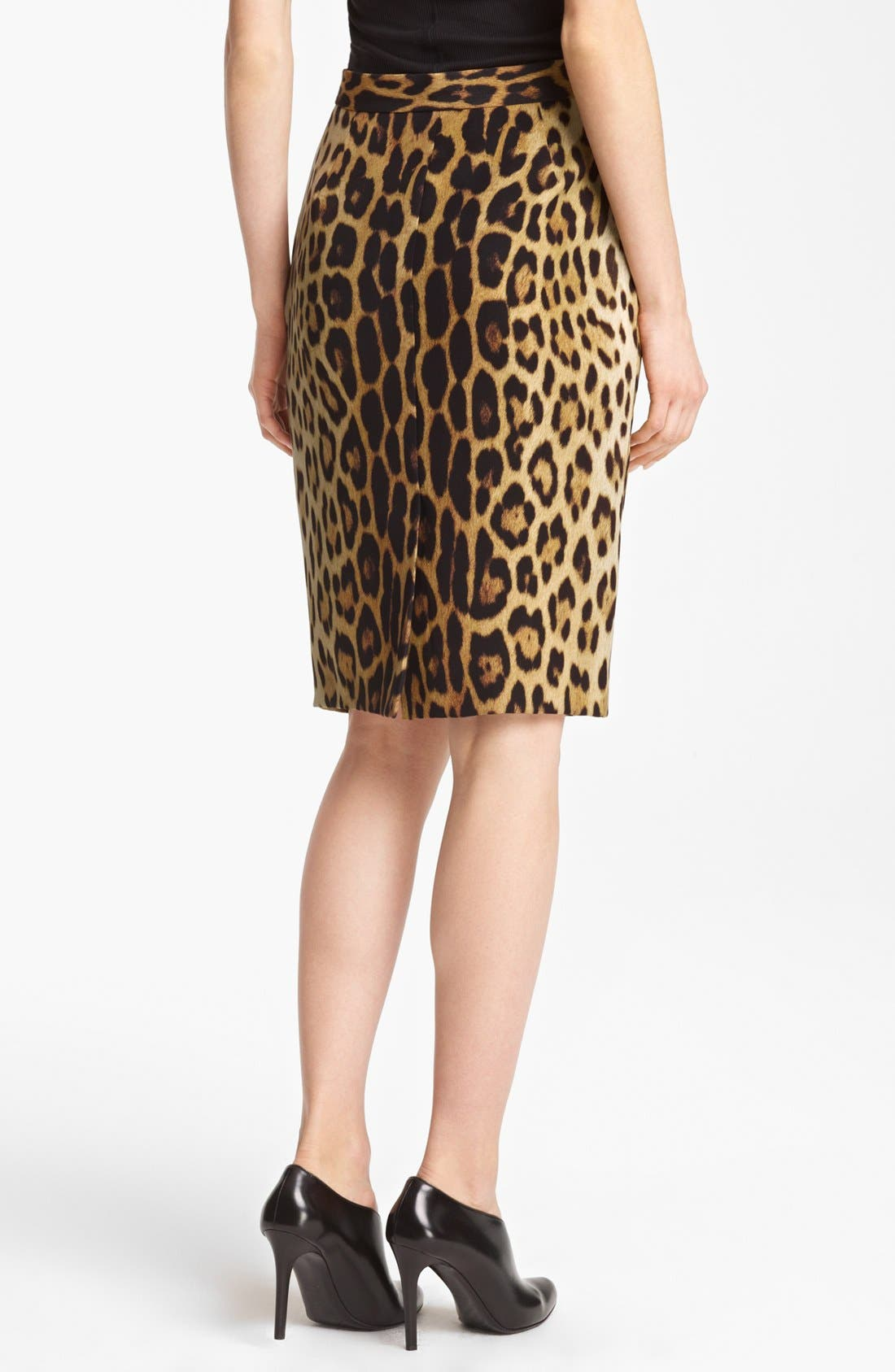 Alternate Image 2  - Moschino Cheap & Chic Leopard Print Pencil Skirt