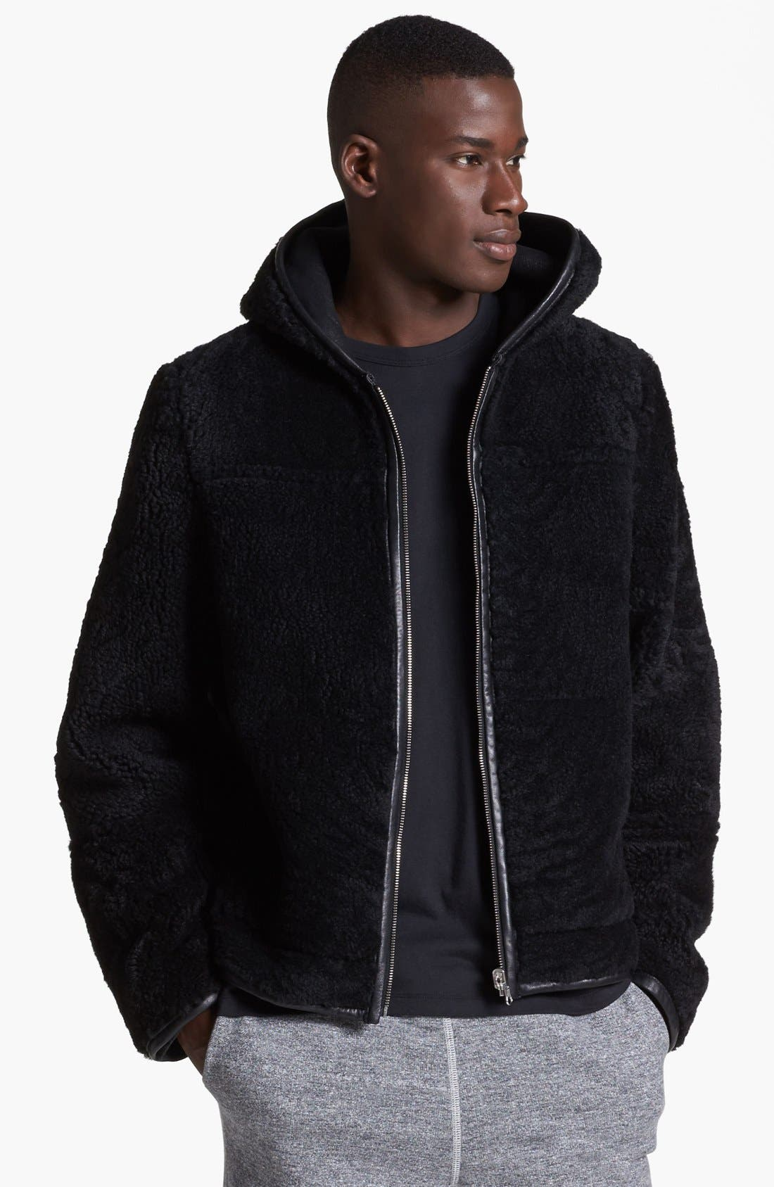 Alternate Image 3  - T by Alexander Wang Reversible Genuine Shearling Leather Jacket