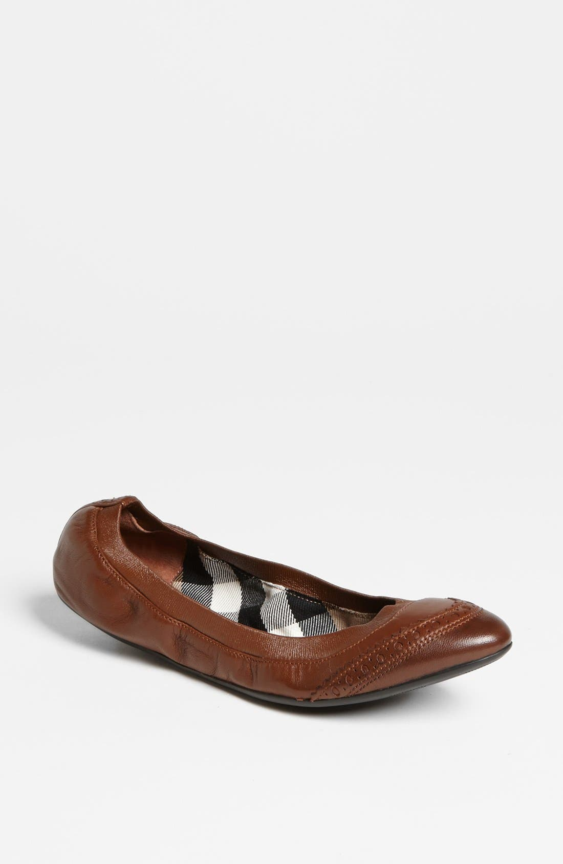 Alternate Image 1 Selected - Burberry 'Berryfield' Flat (Online Only)