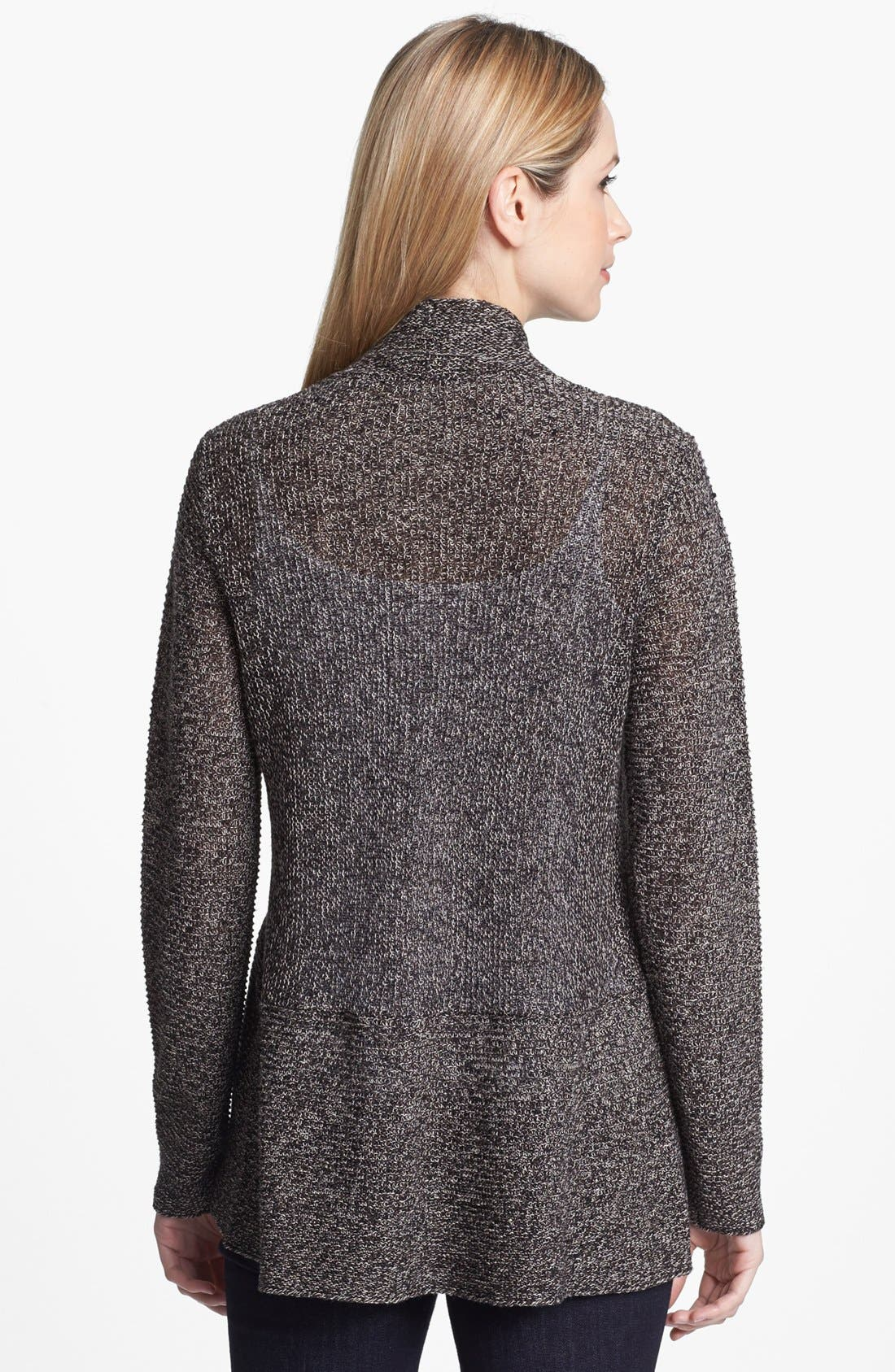 Alternate Image 2  - Eileen Fisher Linen Flutter Cardigan (Regular & Petite)