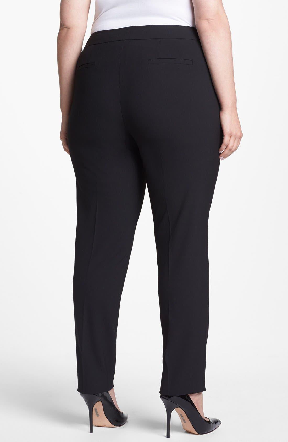 Alternate Image 2  - Sejour 'Ela' Straight Leg Pants (Plus Size)