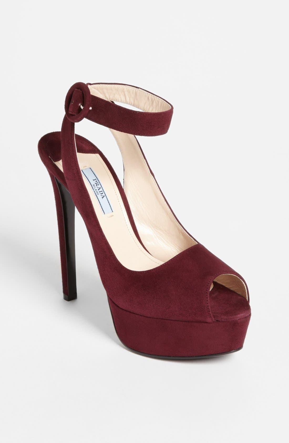 Main Image - Prada Ankle Strap Platform Sandal