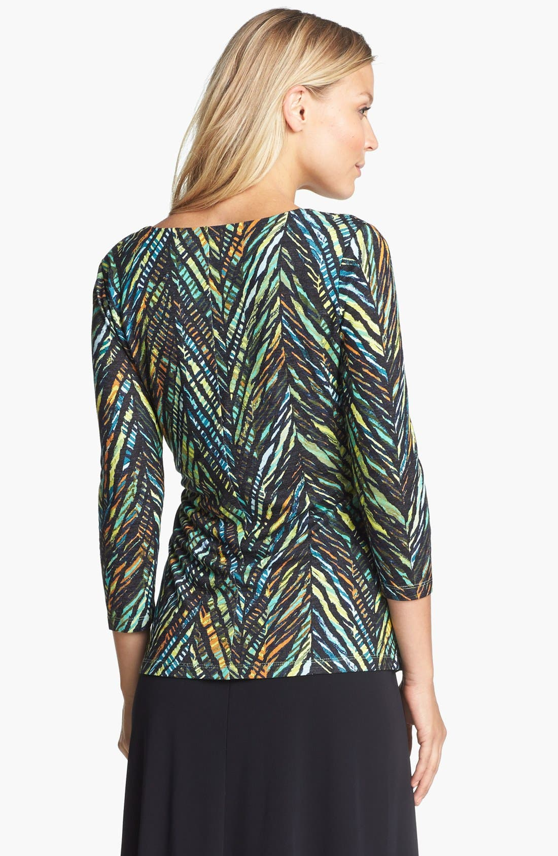 Alternate Image 2  - NIC+ZOE Print Faux Wrap Top