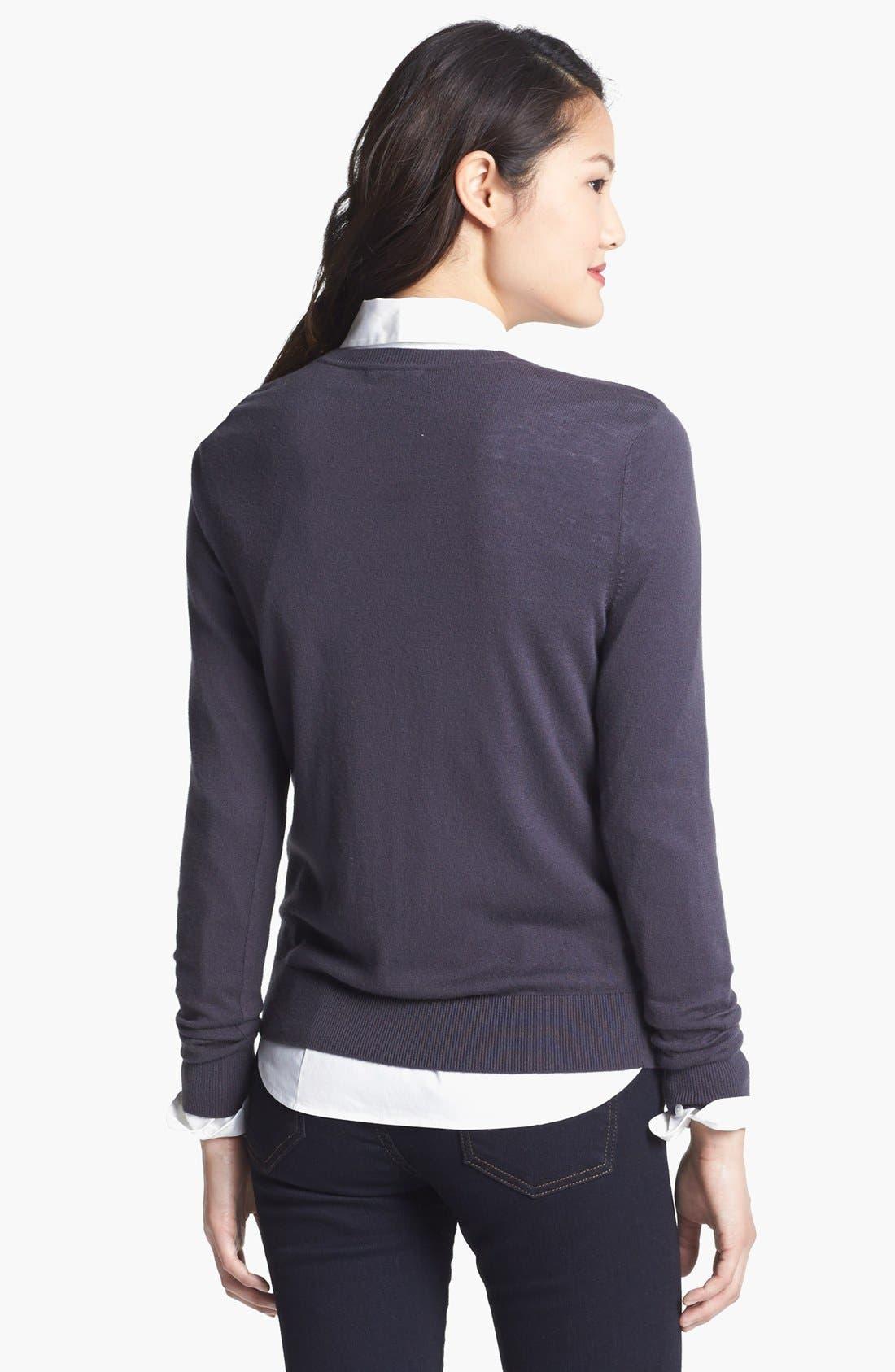 Alternate Image 4  - Halogen® 'Ava' Intarsia Sweater