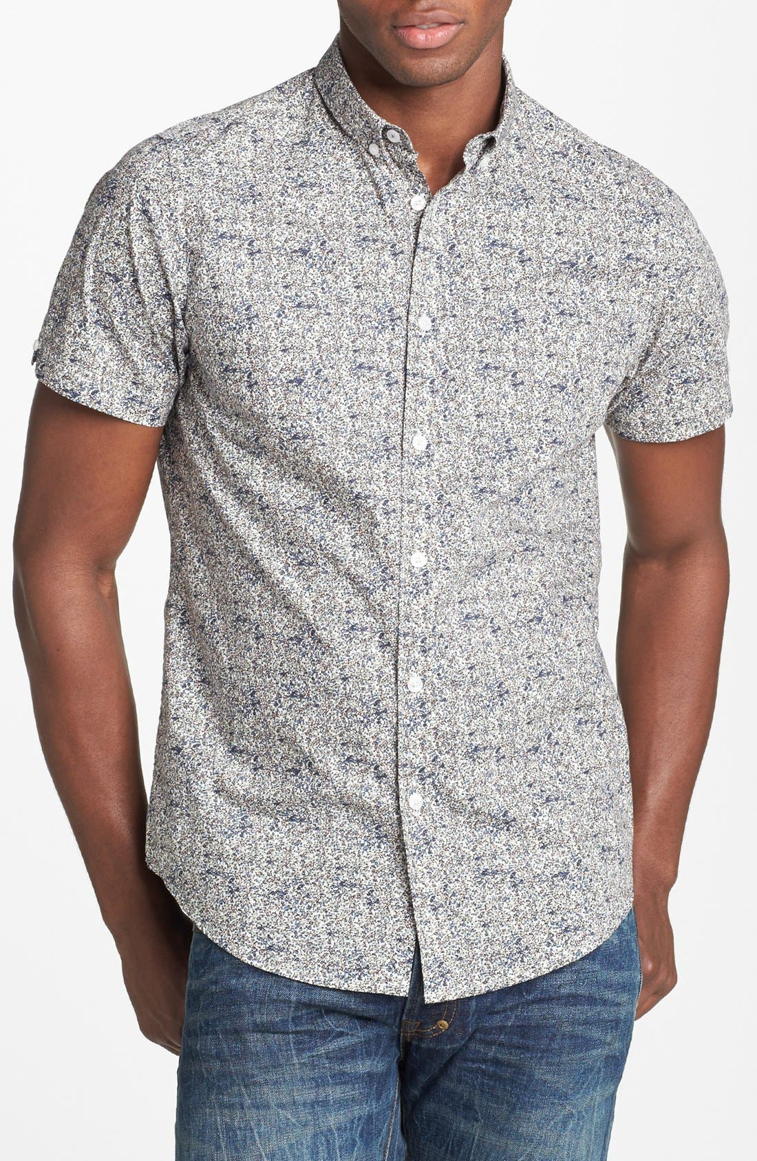 Alternate Image 1 Selected - Ben Sherman Floral Print Short Sleeve Woven Shirt
