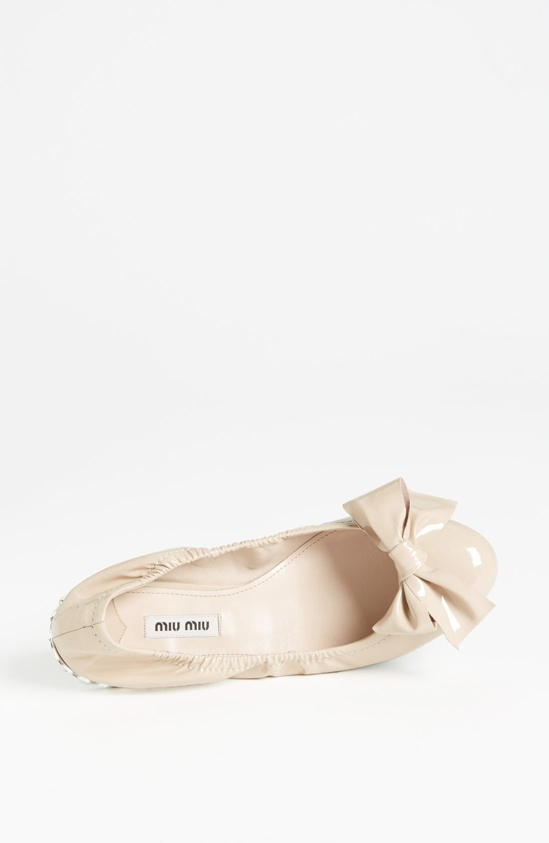 Alternate Image 3  - Miu Miu Jeweled Heel Ballerina Flat