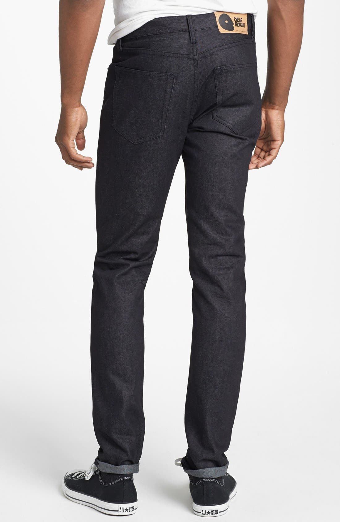 Alternate Image 1 Selected - Cheap Monday 'Four' Slim Straight Leg Jeans (Dry Black)