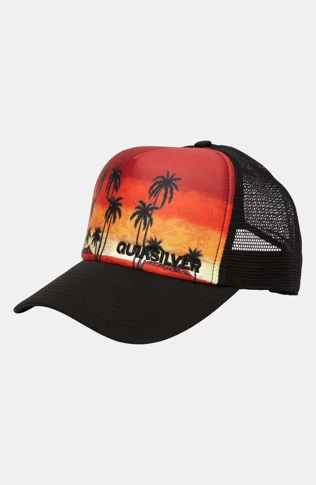 Main Image - Quiksilver 'Boards B' Trucker Hat (Boys)