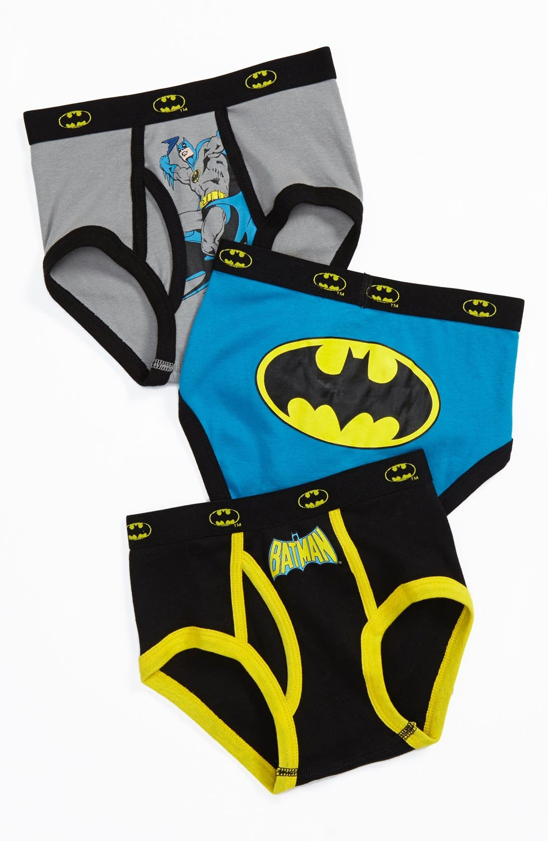 Alternate Image 1 Selected - INTIMO 'Batman' Briefs (3-Pack) (Toddler Boys)