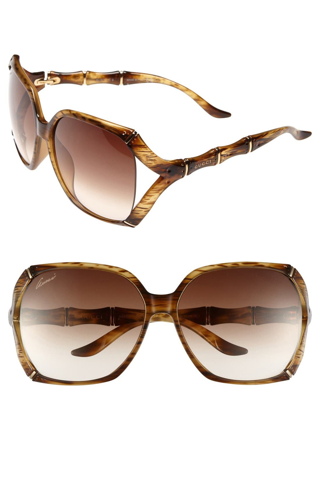 Alternate Image 1 Selected - Gucci 58mm Oversized Sunglasses