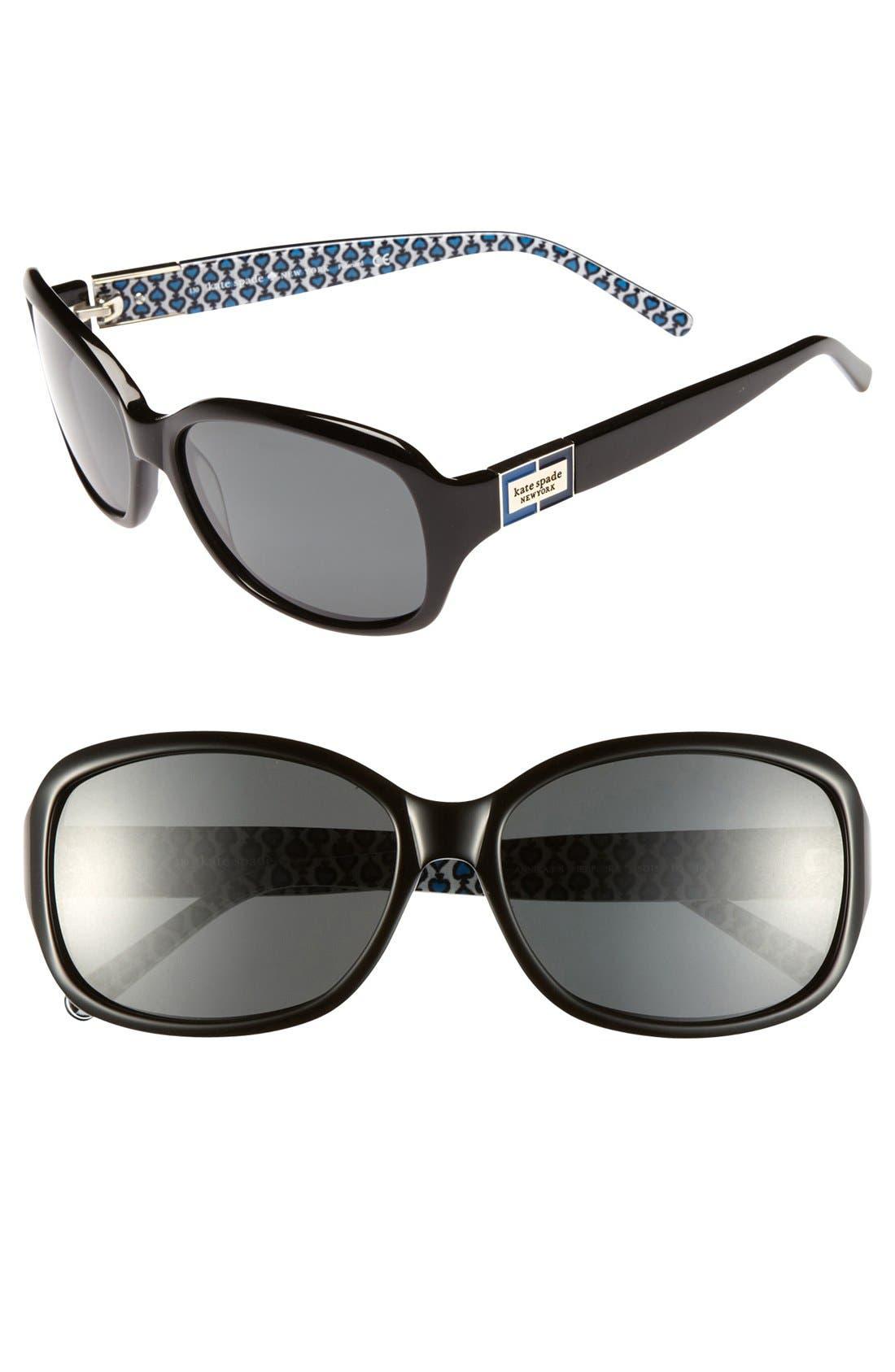 Main Image - kate spade new york annika/p/s 56mm polarized sunglasses