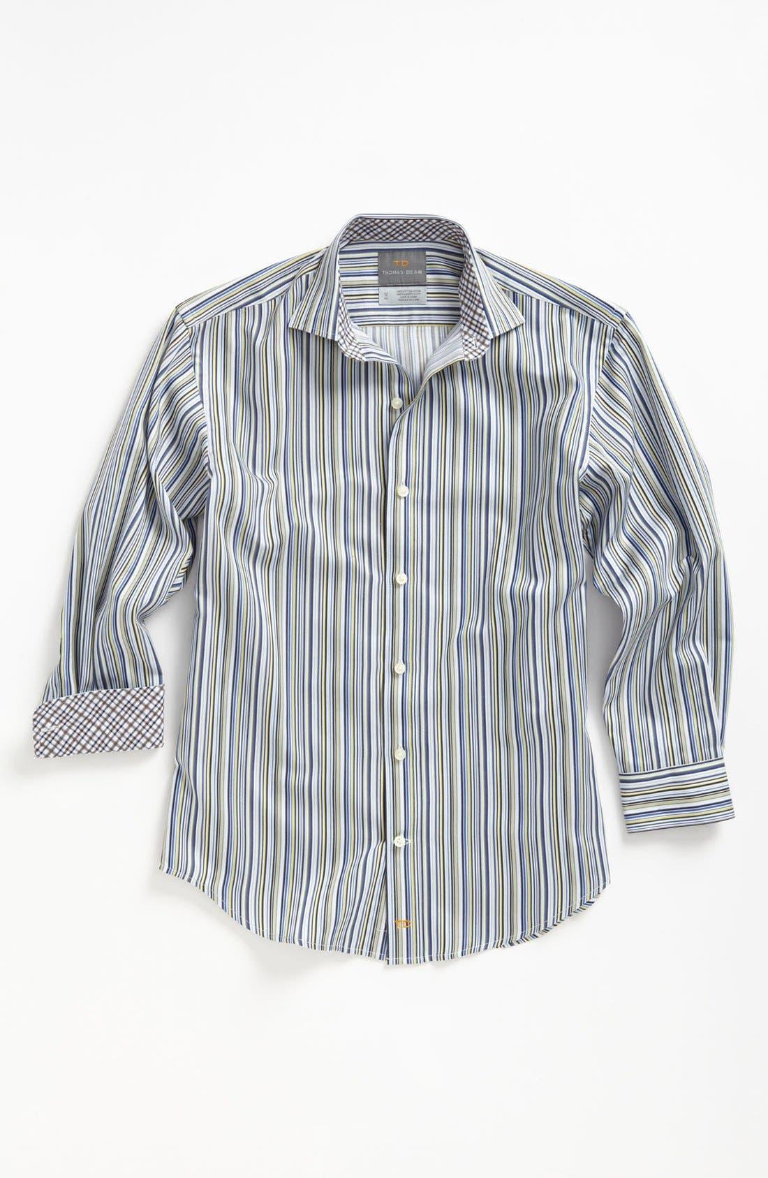 Main Image - Thomas Dean Stripe Dress Shirt (Little Boys)