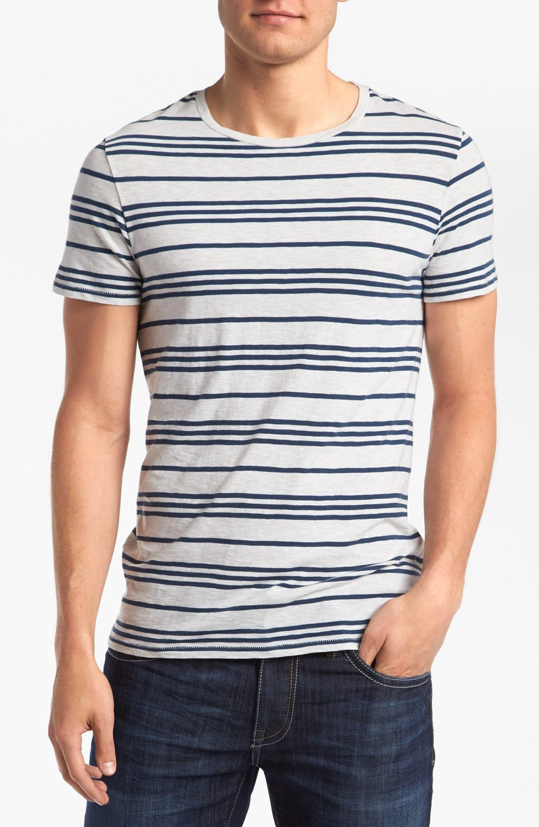 Alternate Image 1 Selected - life/after/denim 'Canal' Stripe T-Shirt
