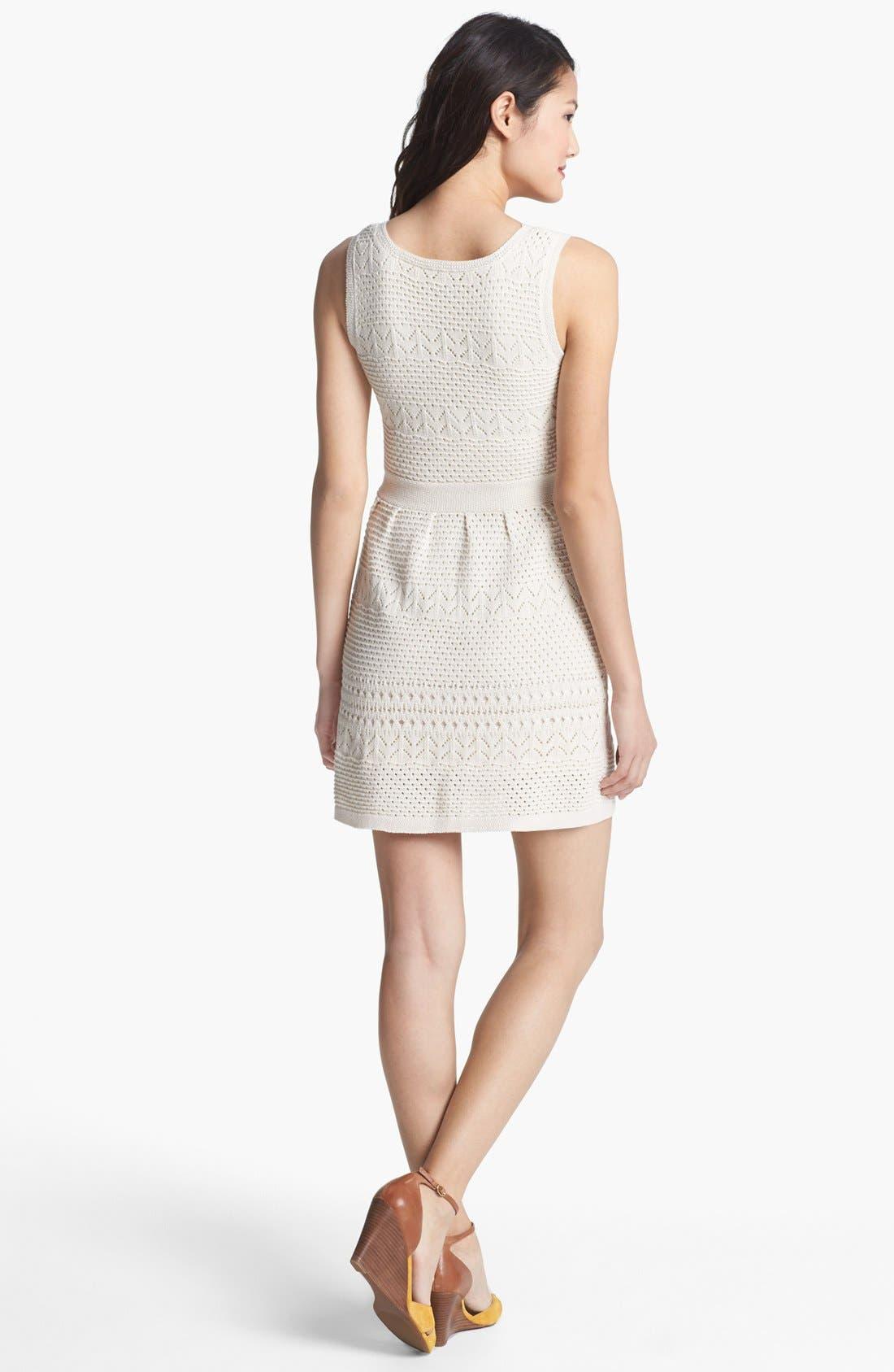 Alternate Image 2  - Jessica Simpson 'Belchic' Open Knit Dress