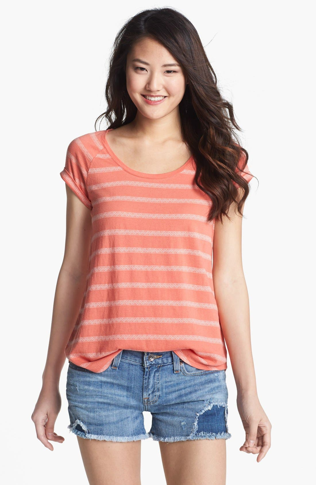 Alternate Image 1 Selected - Lucky Brand 'Brier' Stripe Tee (Online Only)