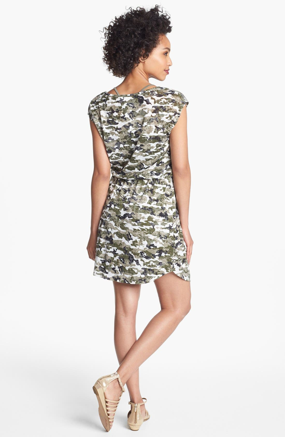 Alternate Image 2  - Two by Vince Camuto Camo Print Dress