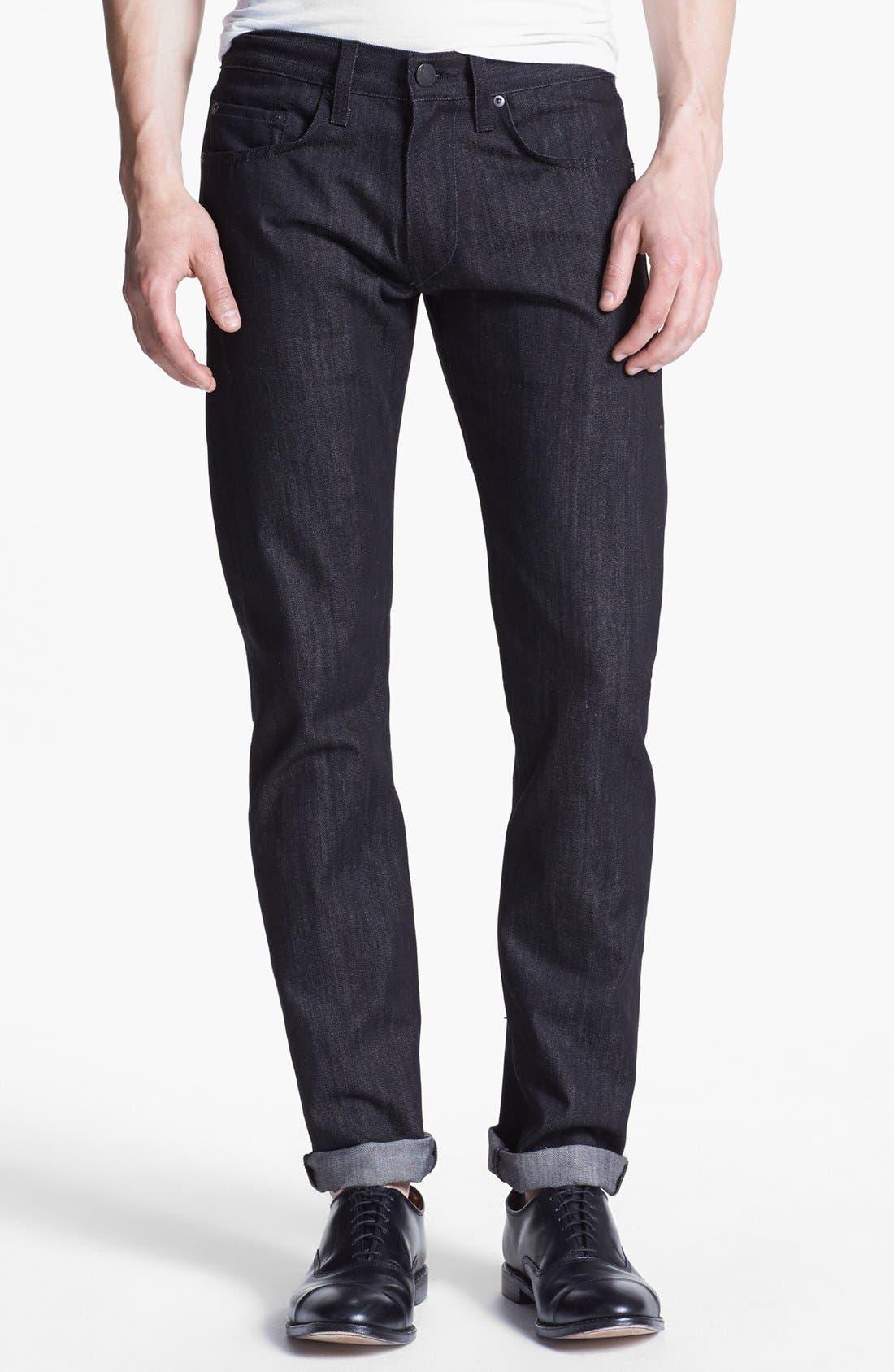 Alternate Image 1 Selected - J Brand 'Tyler' Slim Fit Jeans (Black Raw)