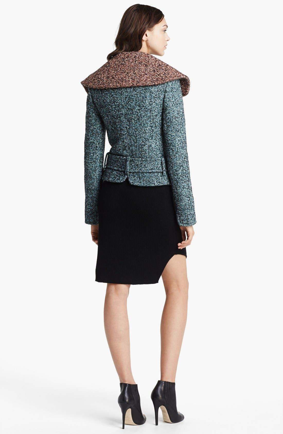 Alternate Image 2  - Carven Asymmetrical Zip Tweed Jacket
