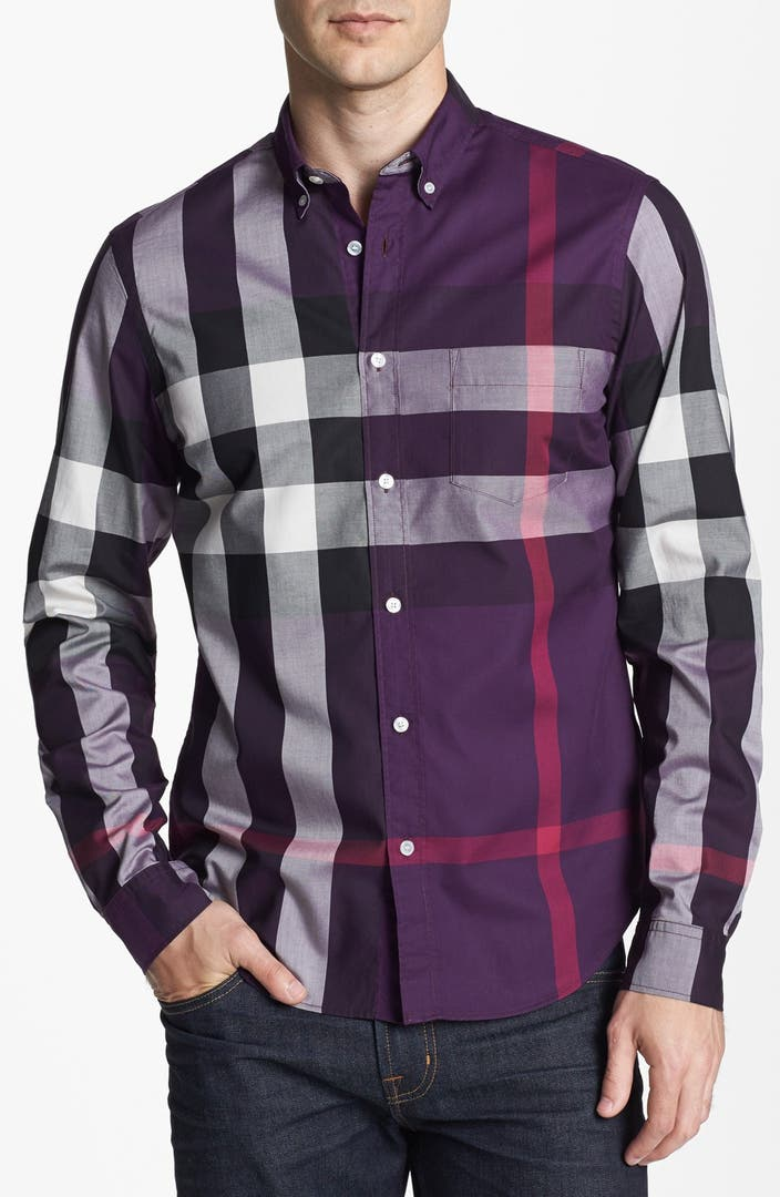 Burberry brit 39 fred 39 check sport shirt nordstrom for Burberry brit green plaid shirt