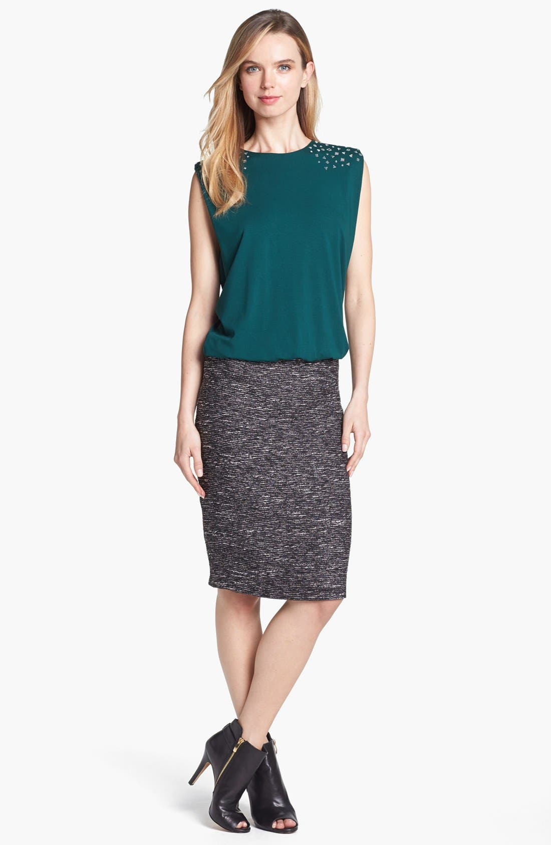 Alternate Image 4  - Vince Camuto Metallic Tweed Pencil Skirt