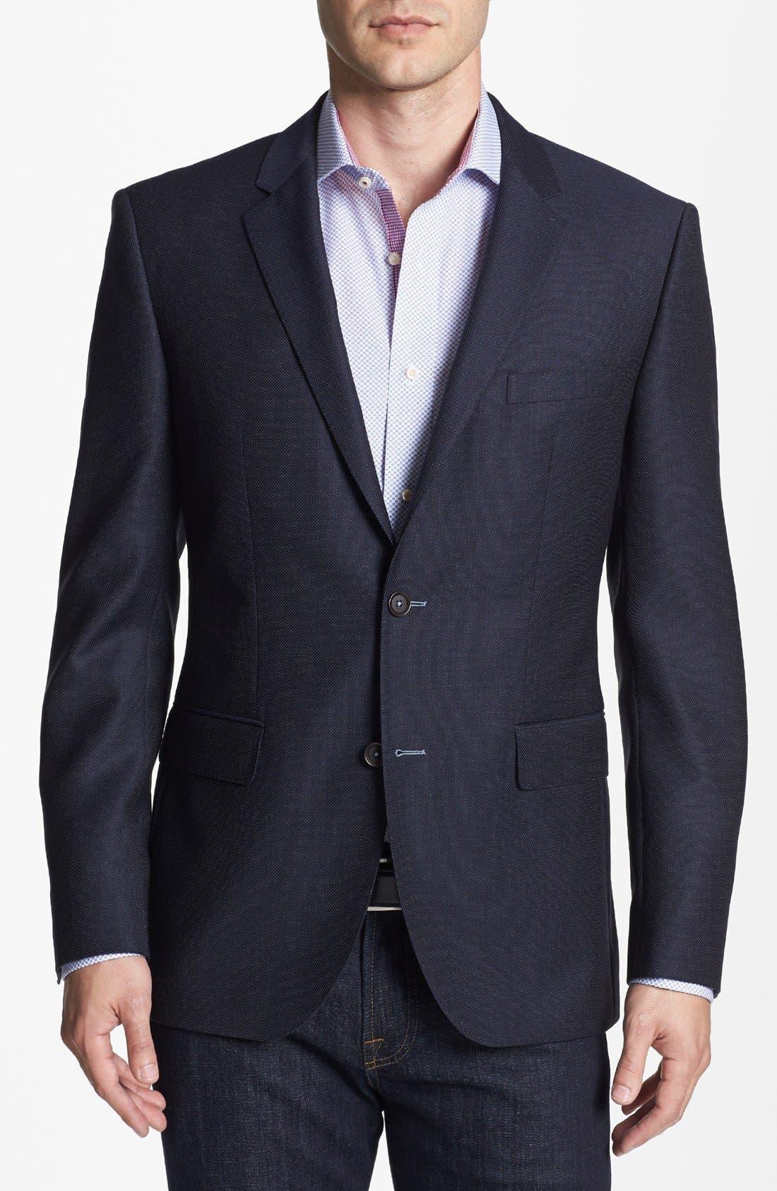 Main Image - BOSS Black 'The Keys' Trim Fit Wool Blazer