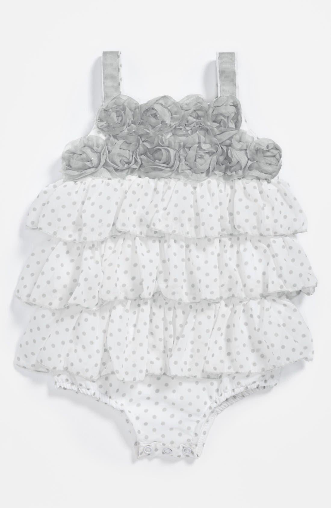 Main Image - Pippa & Julie Chiffon Bodysuit (Baby Girls)