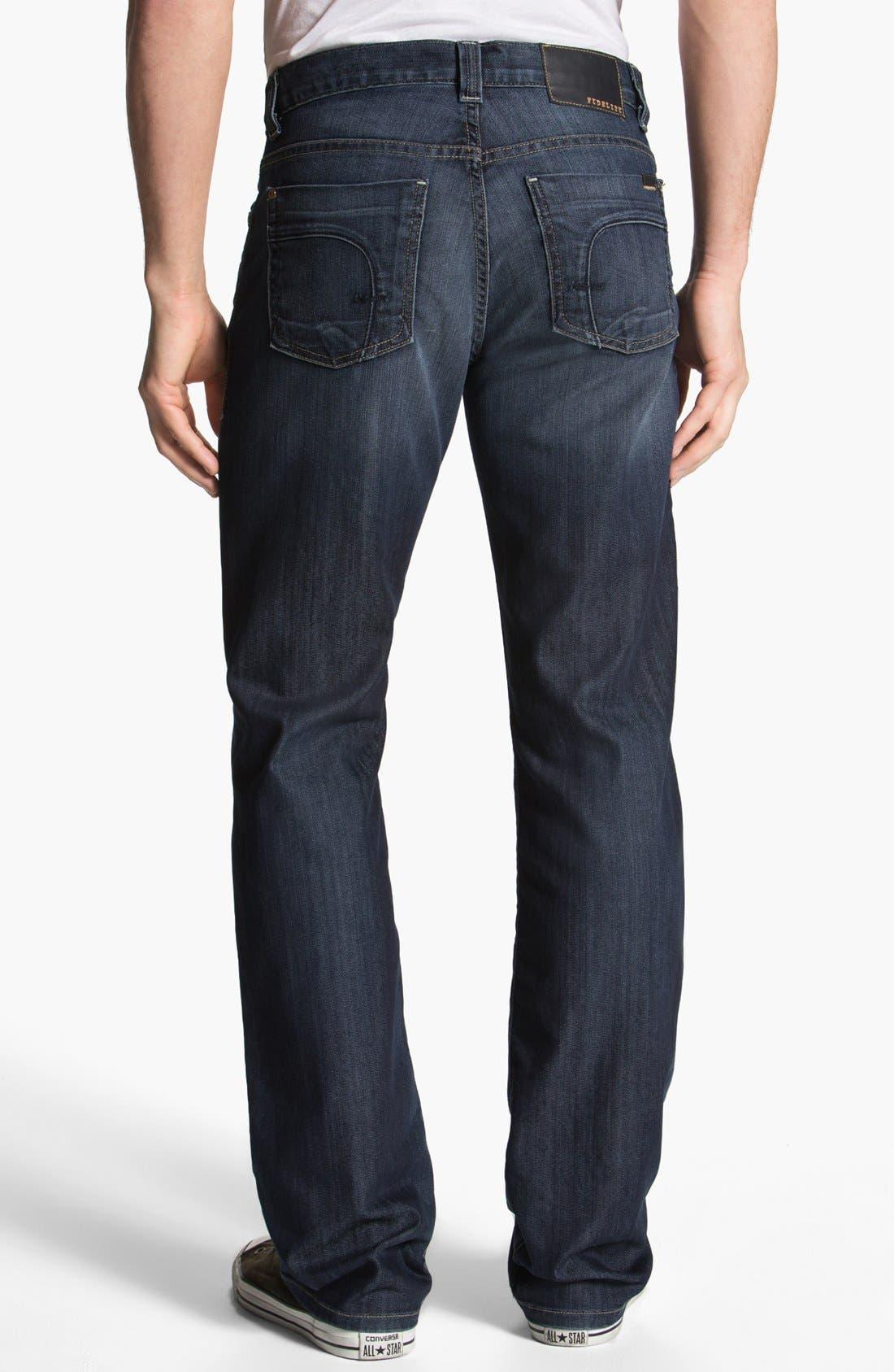 Alternate Image 2  - Fidelity Denim '5011' Straight Leg Jeans (Petrol Blue)
