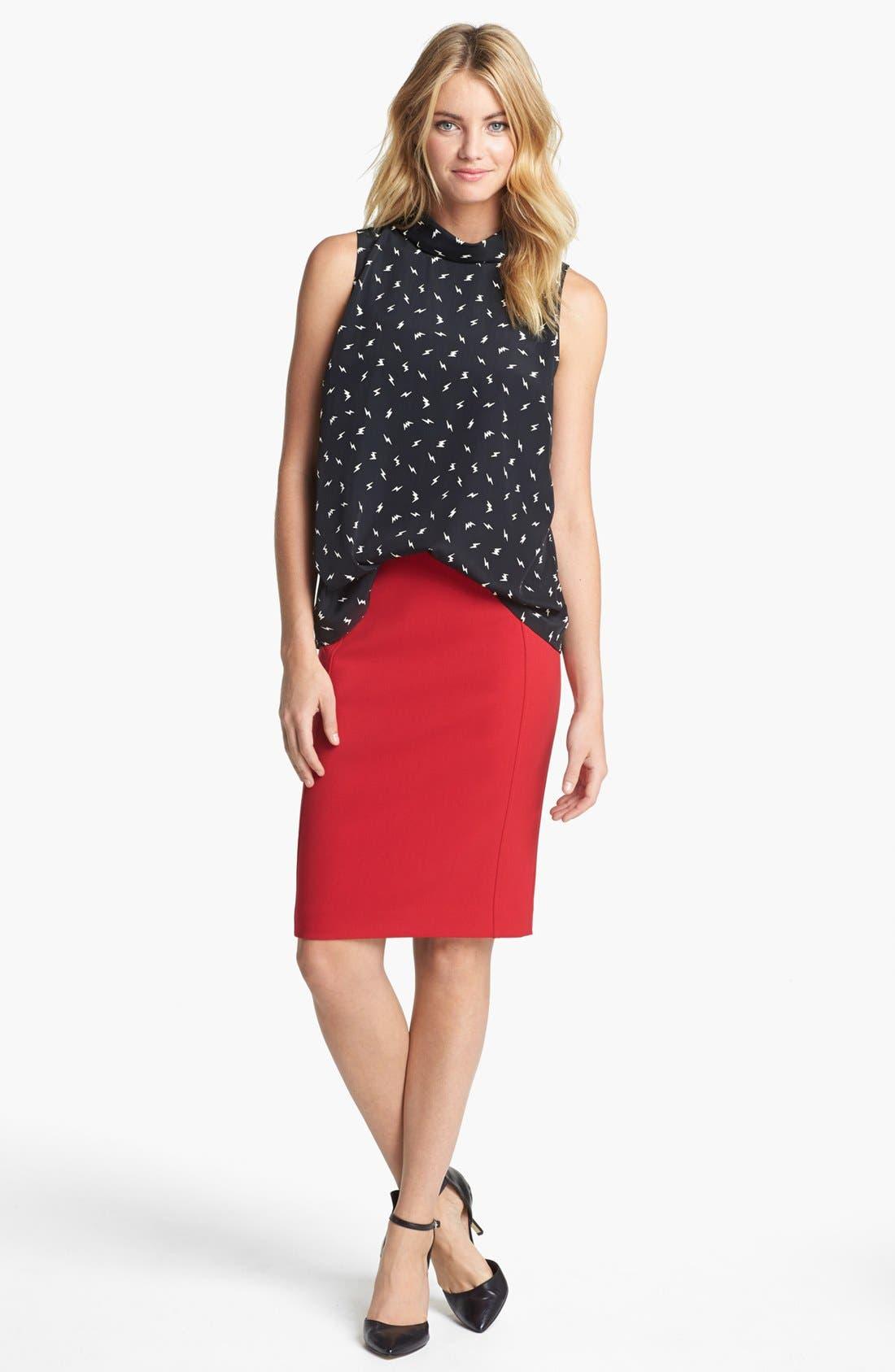 Alternate Image 1 Selected - Olivia Moon Reverse Collar Sleeveless Blouse