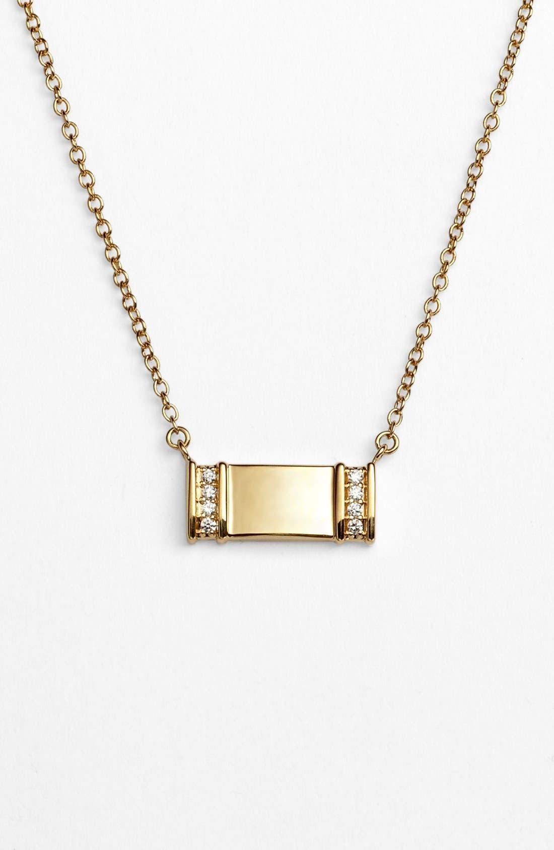 Main Image - Kwiat 'Mollie Faith' Small Tablet Pendant Necklace