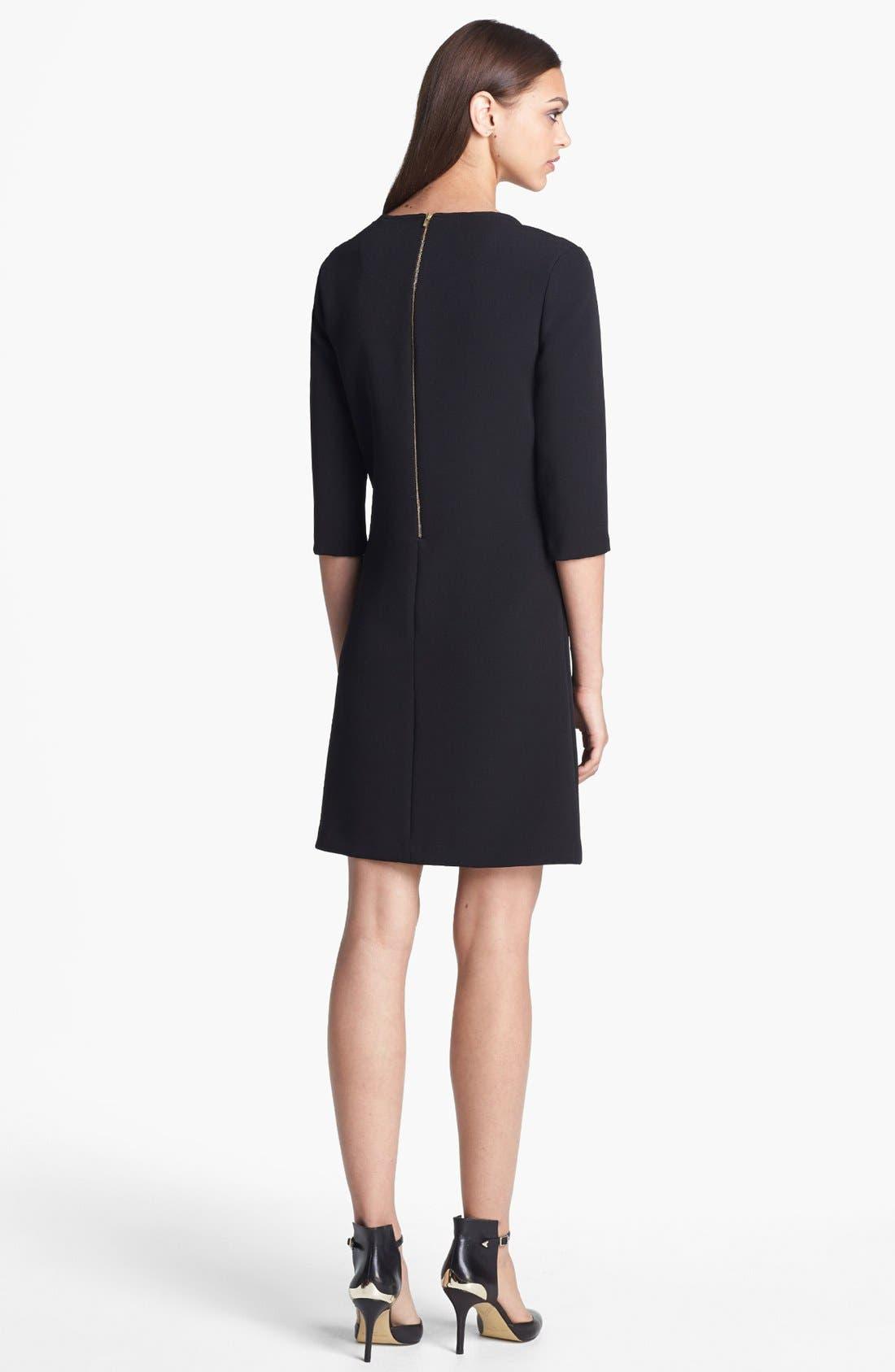 Alternate Image 2  - Donna Morgan Studded Crepe Shift Dress (Online Only)