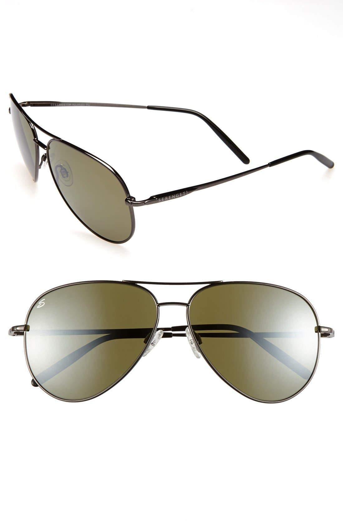 Main Image - Serengeti 'Medium Aviator' 67mm Polarized Sunglasses