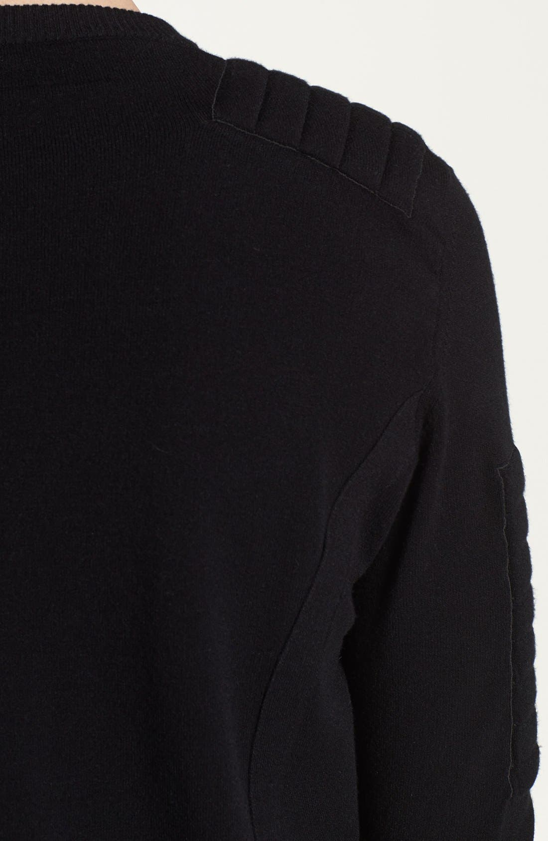 Alternate Image 3  - Pierre Balmain Padded Crewneck Sweater (Online Only)