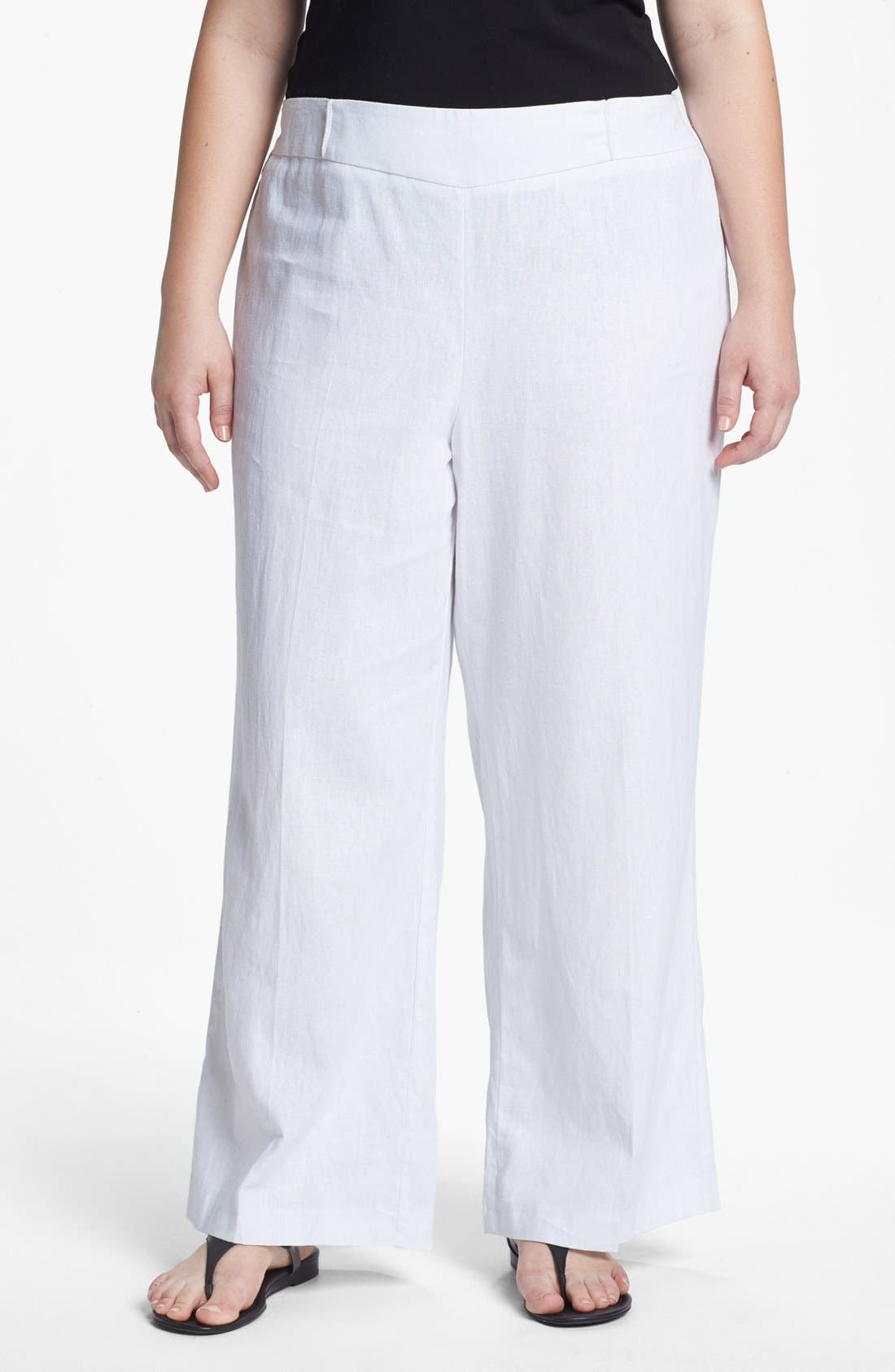 Main Image - Evans Wide Leg Pants (Plus Size)