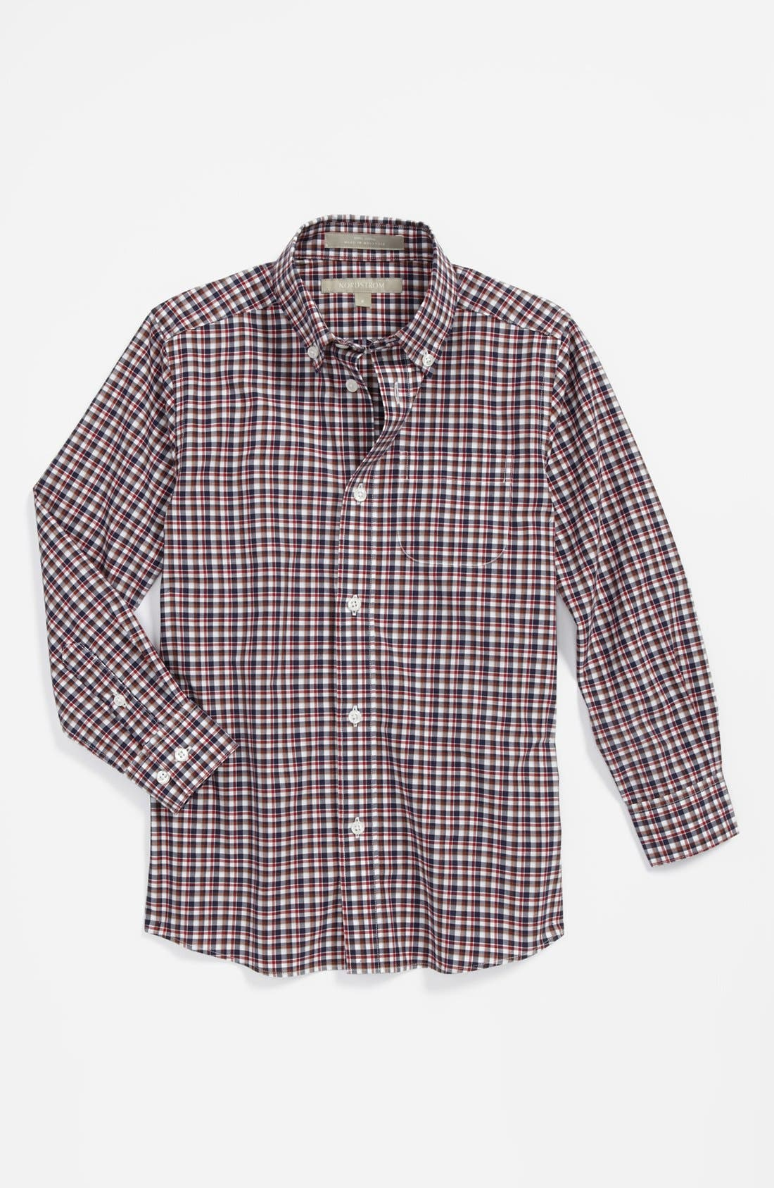 Alternate Image 1 Selected - Nordstrom Gingham Dress Shirt (Little Boys)