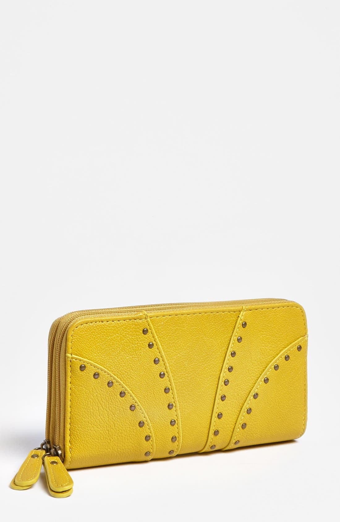 Main Image - Jessica Simpson 'Allie' Zip Around Faux Leather Wallet
