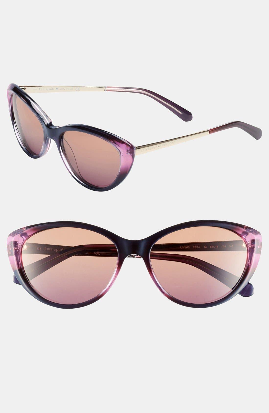 Alternate Image 1 Selected - kate spade new york 'livia' 55mm sunglasses
