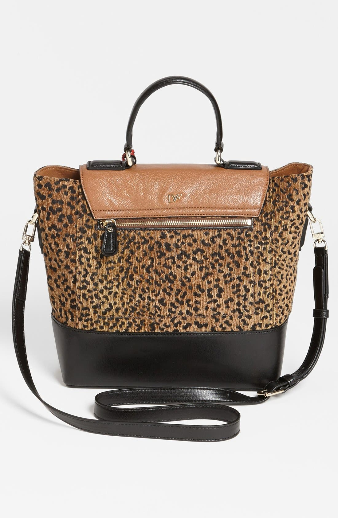 Alternate Image 4  - Diane von Furstenberg '440 Top Handle - Small' Leopard Jacquard Satchel
