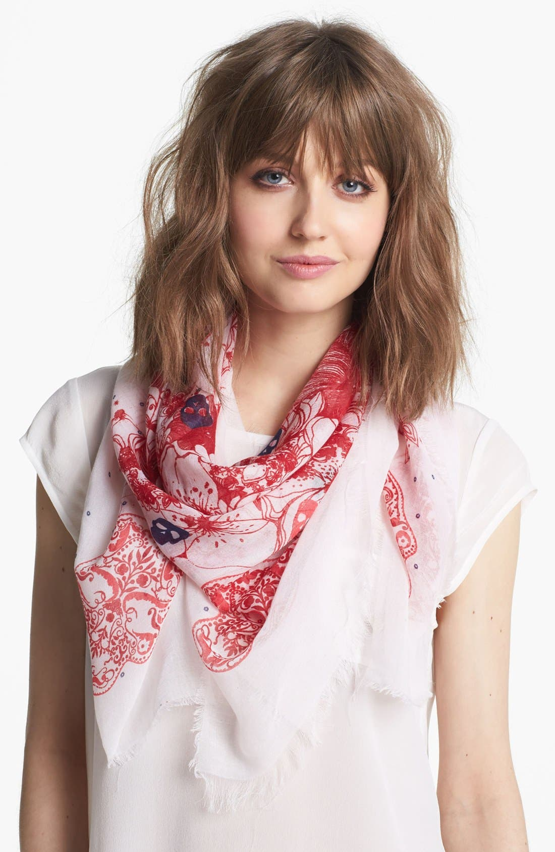 Main Image - Collection XIIX 'Skull Garden' Square Scarf