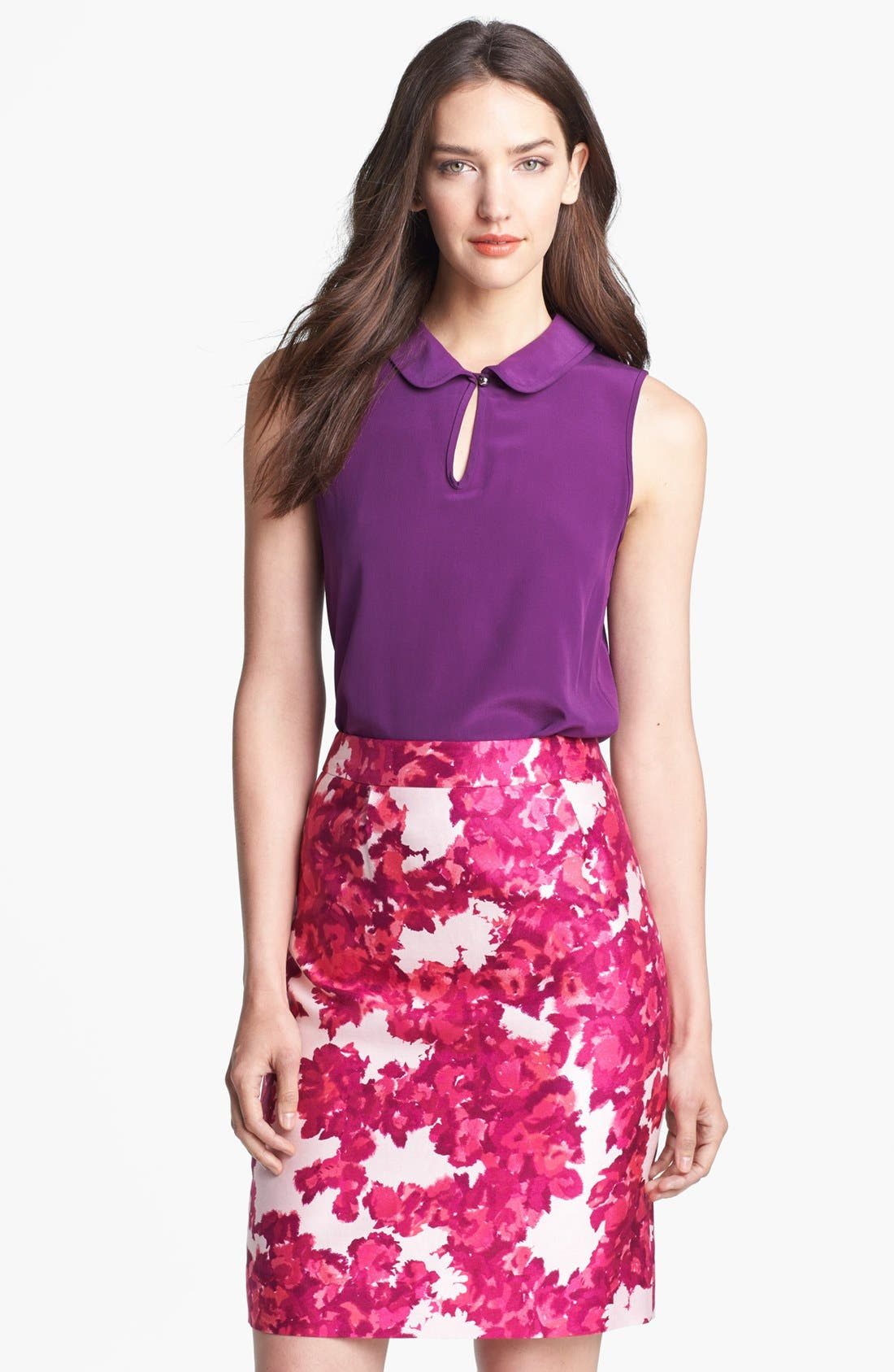 Alternate Image 1 Selected - kate spade new york 'rosalind' silk top