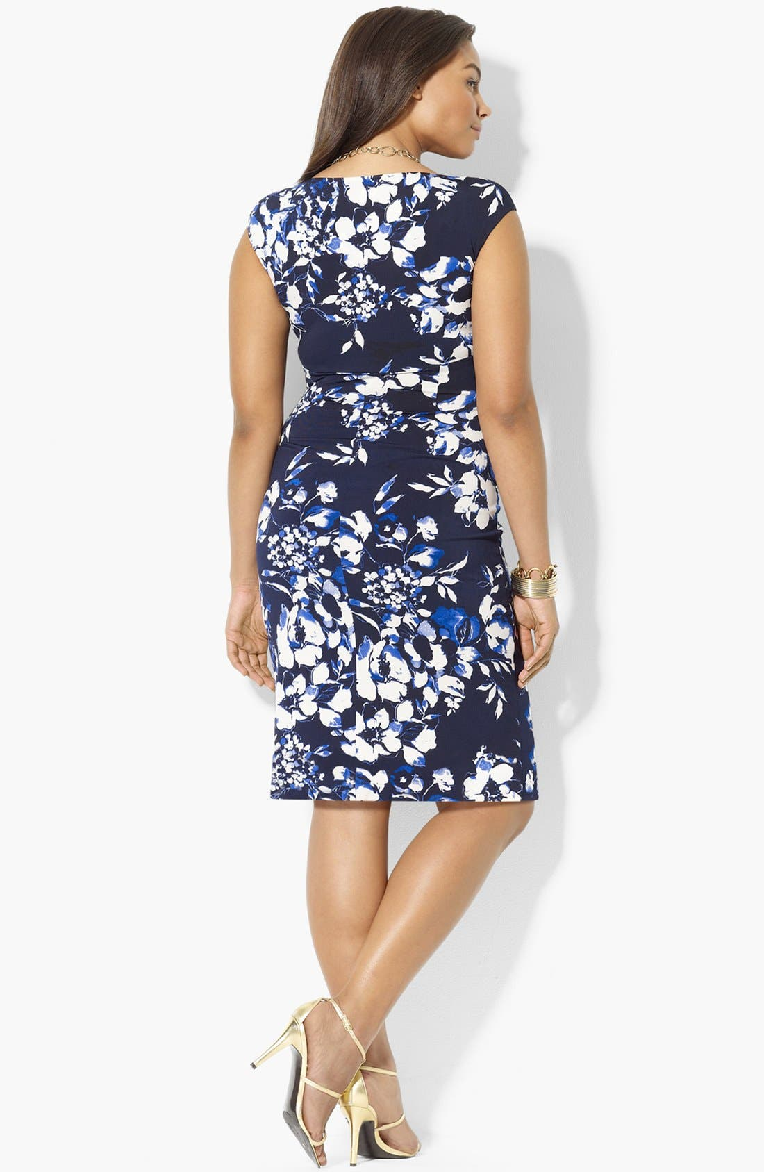 Alternate Image 2  - Lauren Ralph Lauren Floral Print Jersey Dress (Plus Size)