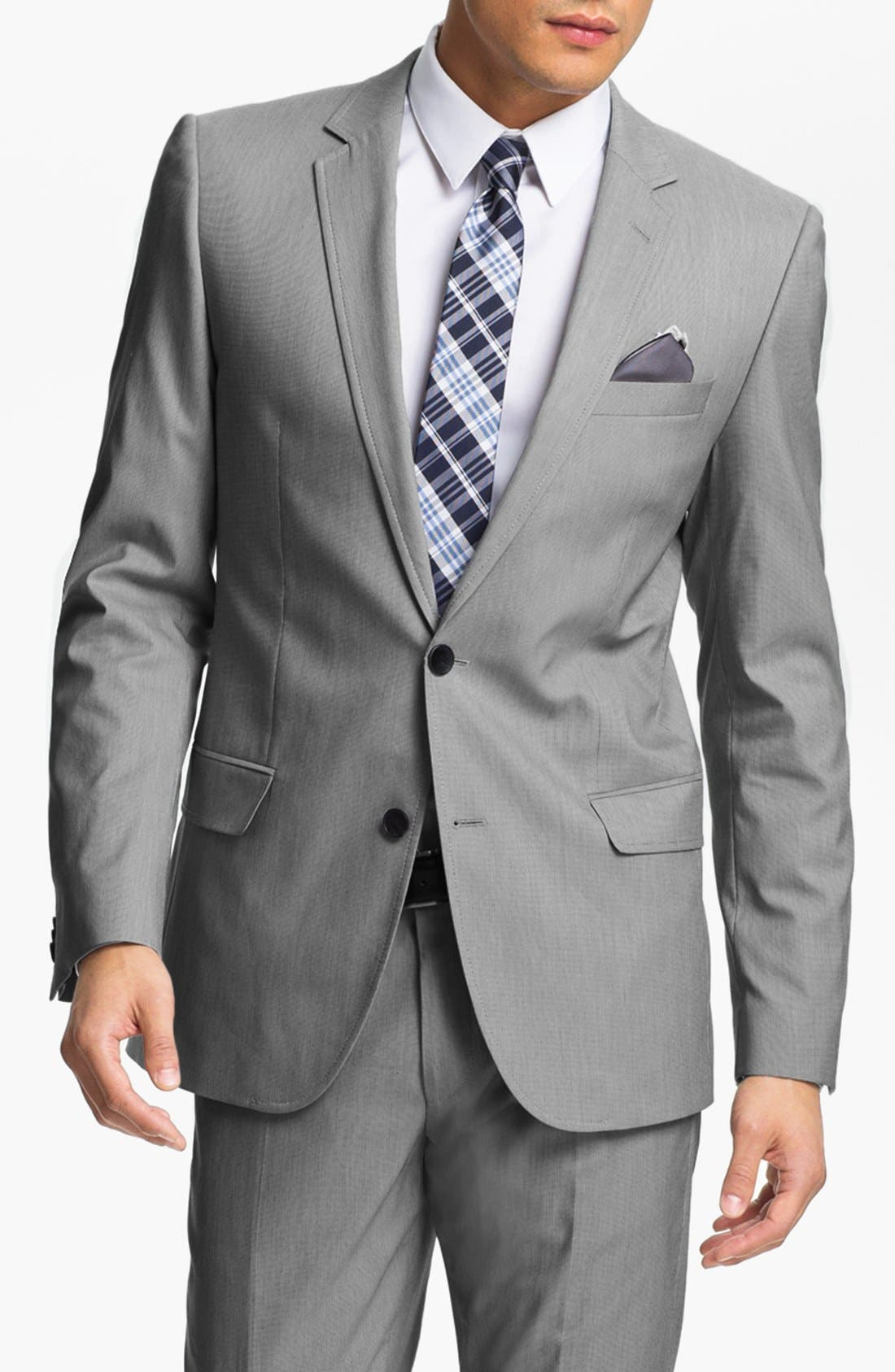 Alternate Image 1 Selected - HUGO 'Aiko/Heise' Trim Fit Suit