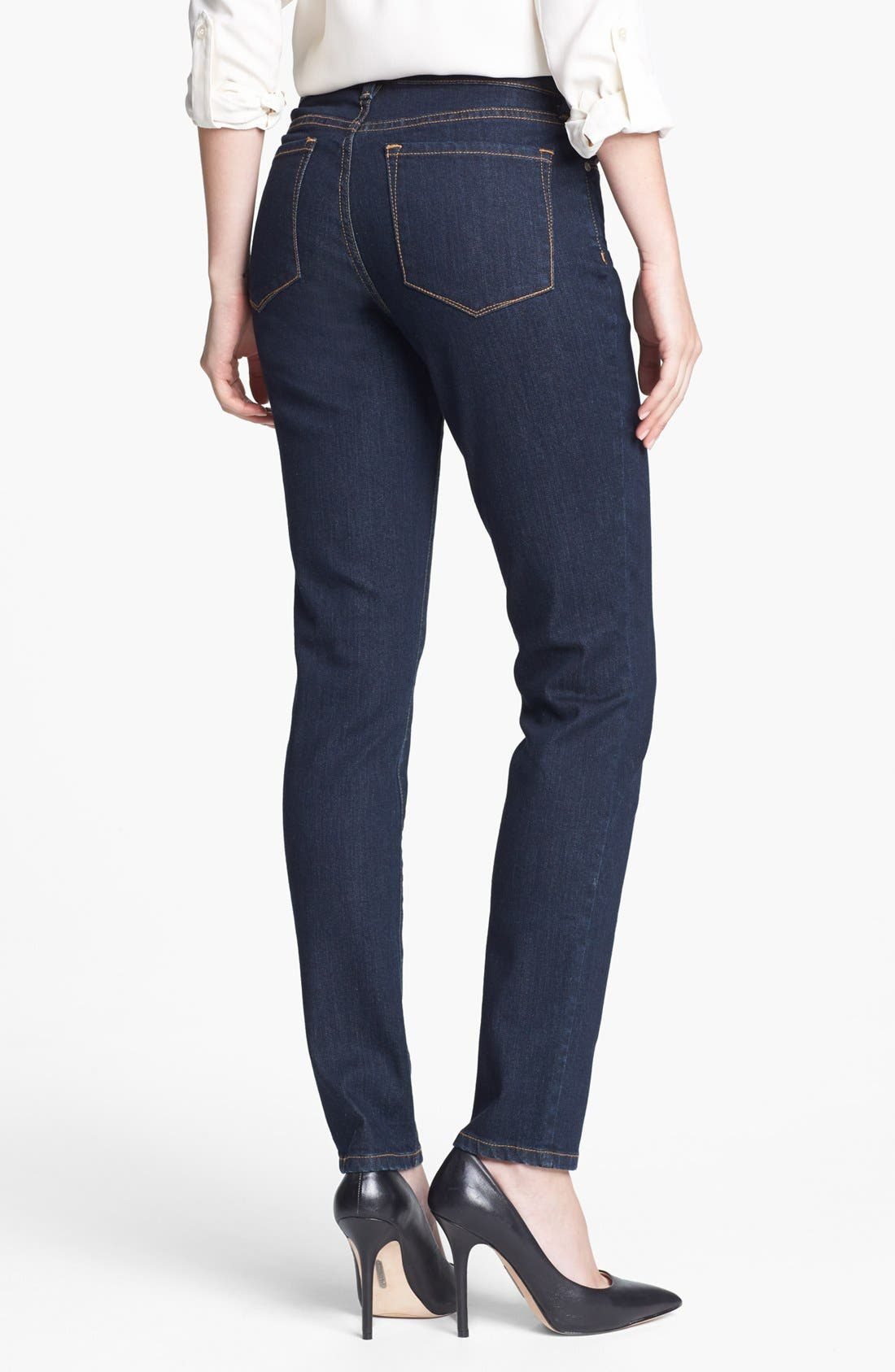 Alternate Image 2  - NYDJ 'Alina' Stretch Skinny Jeans (Larchmont) (Regular & Petite)