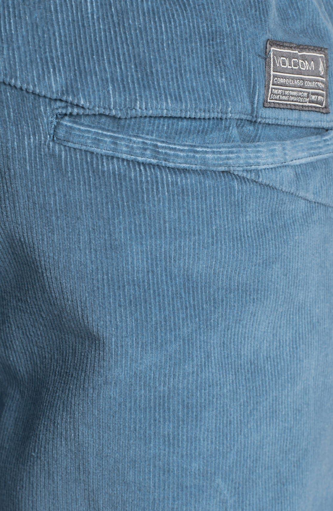 Alternate Image 3  - Volcom Elastic Waist Corduroy Shorts