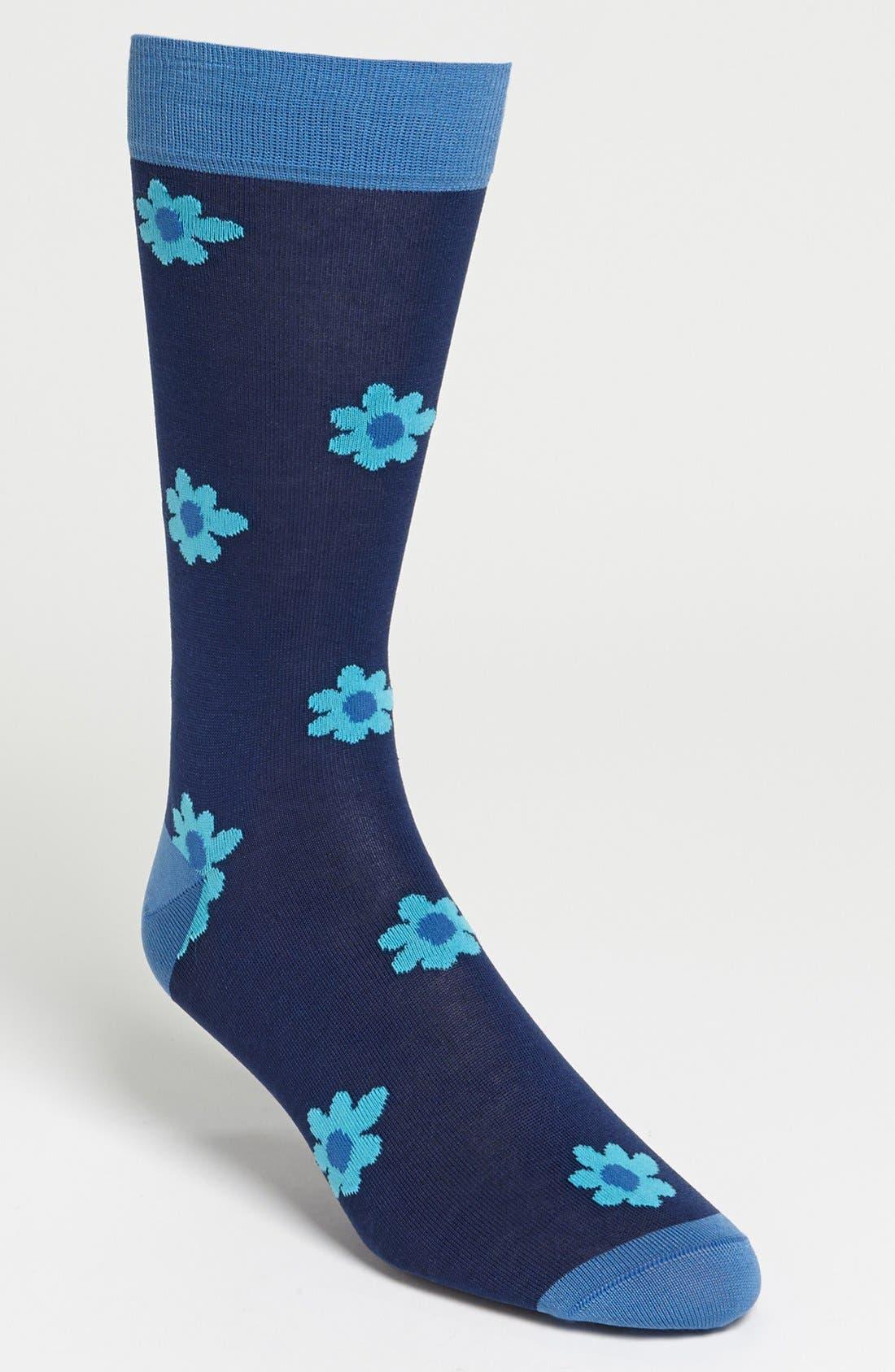 Alternate Image 1 Selected - Marcoliani 'Hibiscus' Socks
