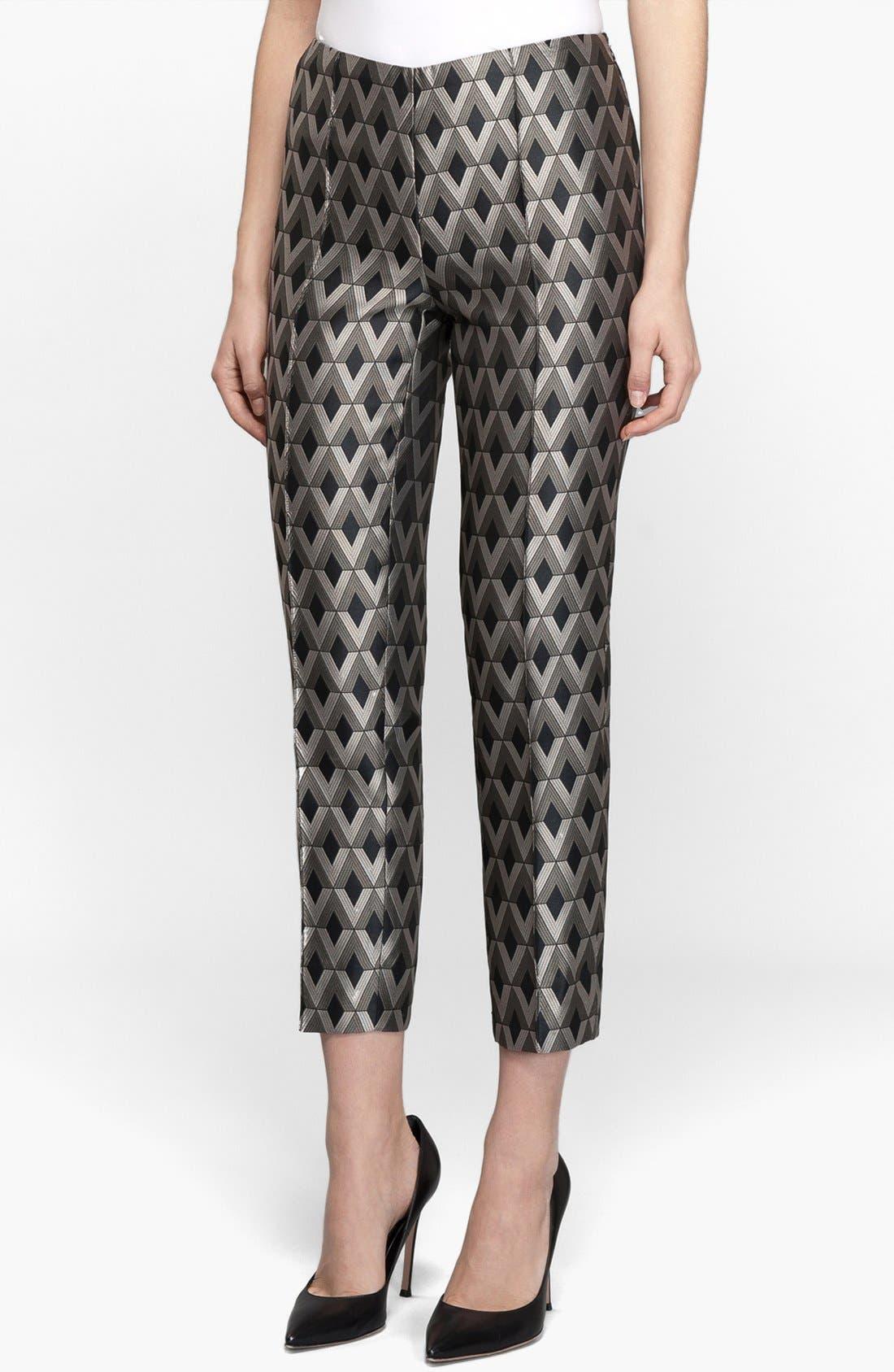 Alternate Image 1 Selected - Lafayette 148 New York Print Skinny Crop Pants