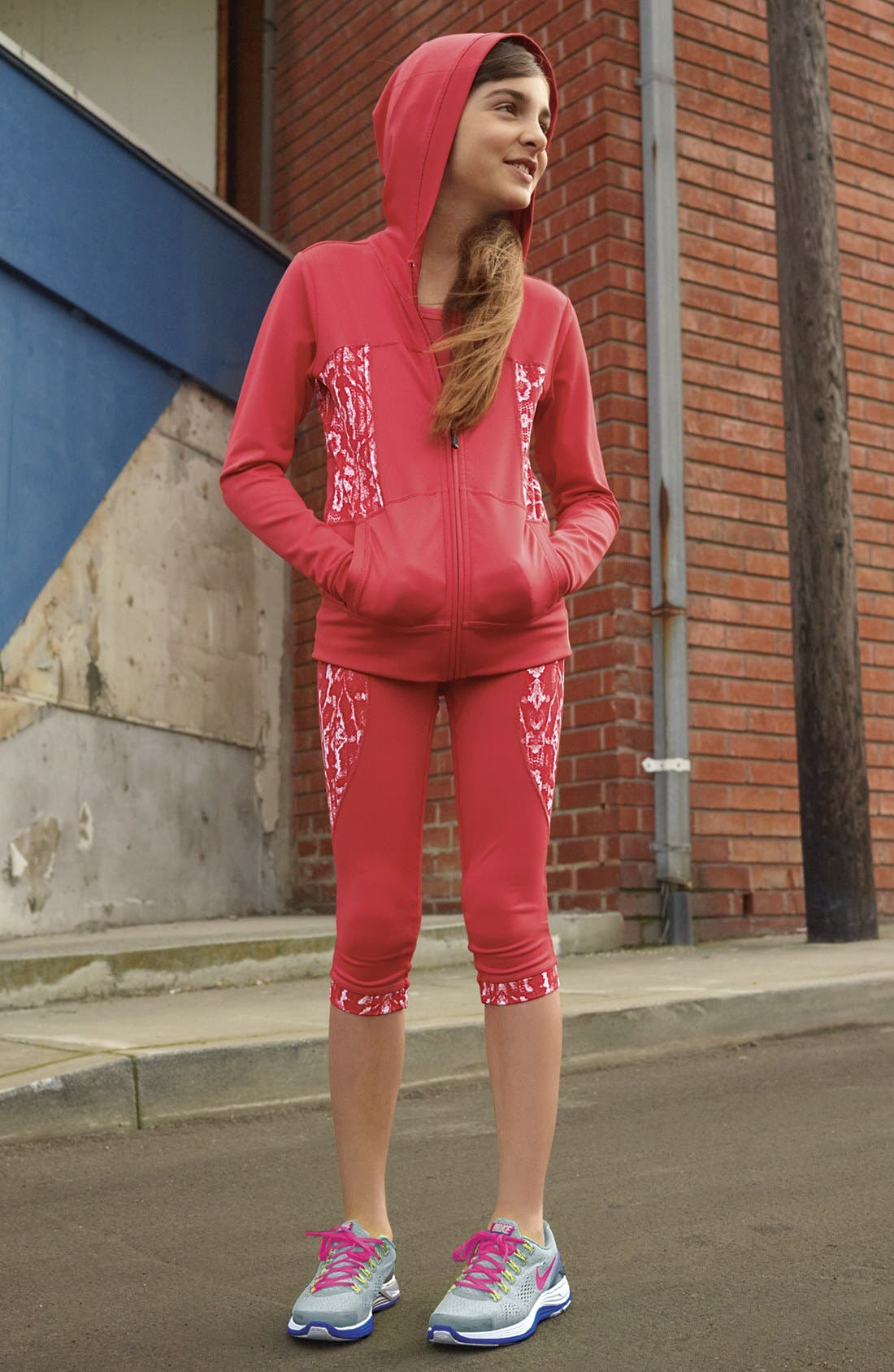 Alternate Image 2  - Zella Girl 'My Fave' Print Hoodie (Little Girls & Big Girls)
